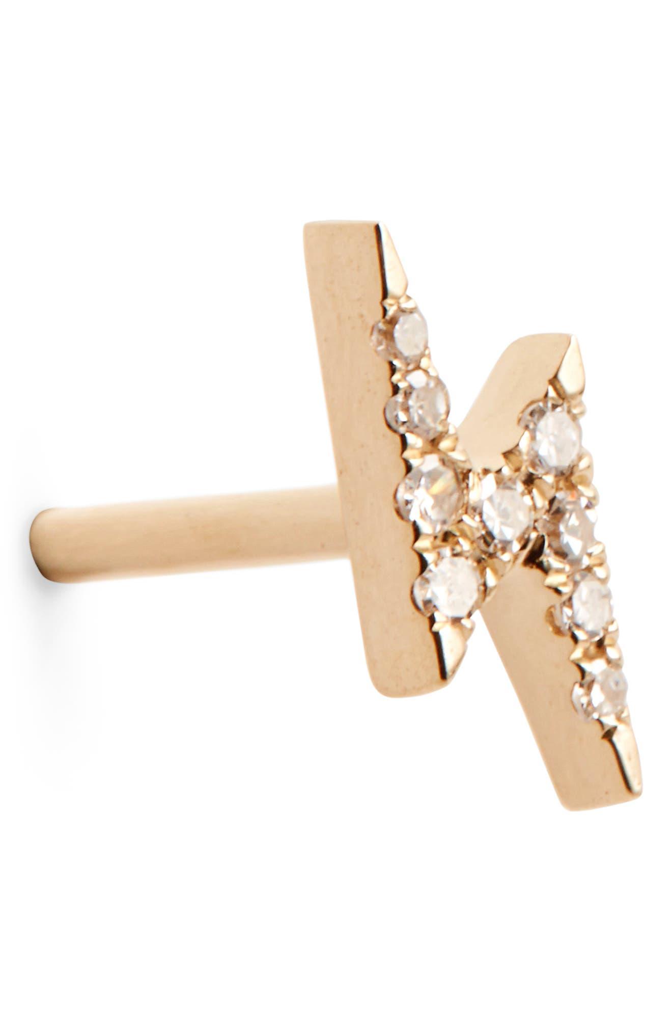 Diamond Stud Earrings,                             Alternate thumbnail 7, color,                             710