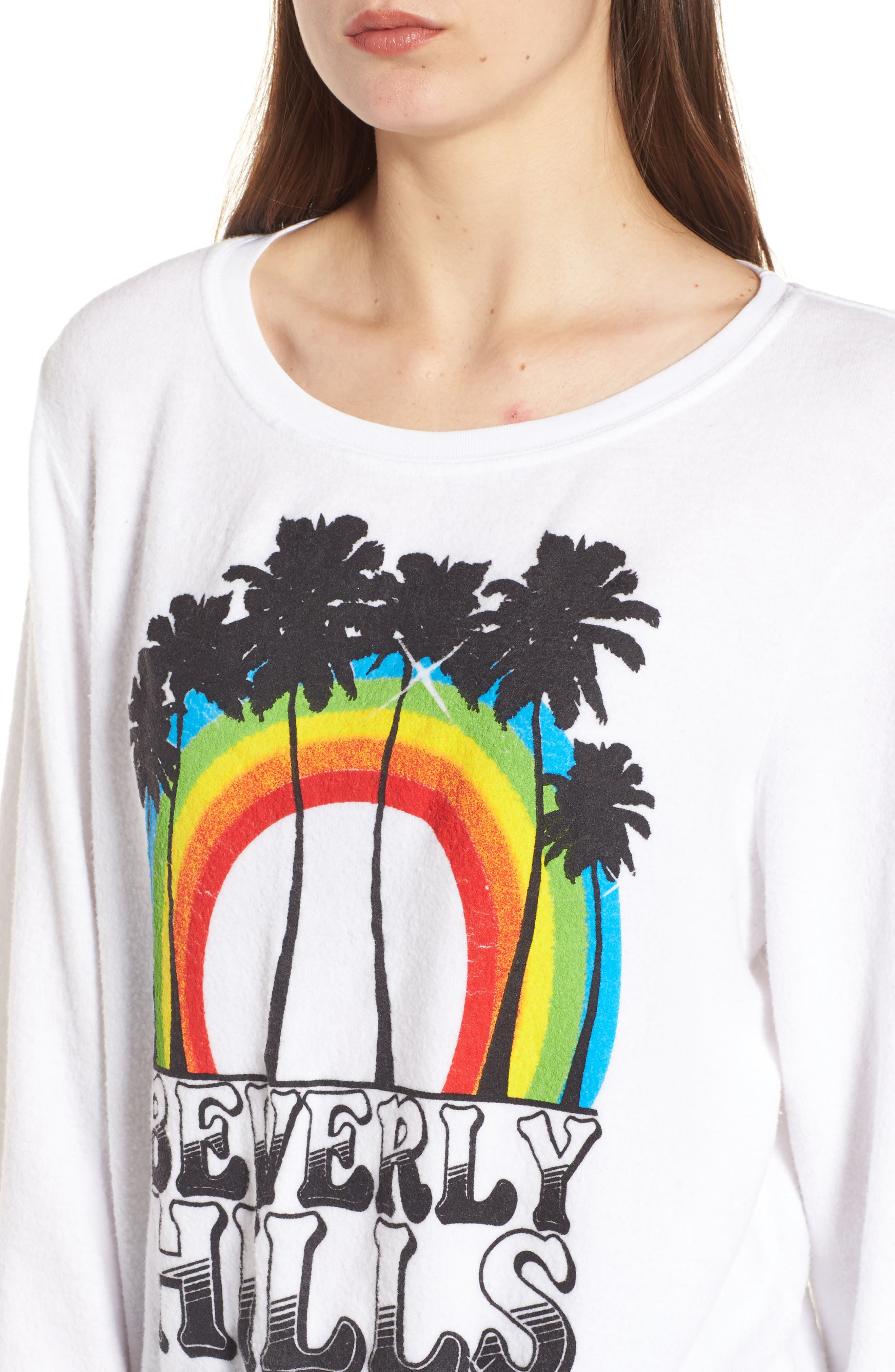 Beverly Hills Sweatshirt,                             Alternate thumbnail 4, color,                             100