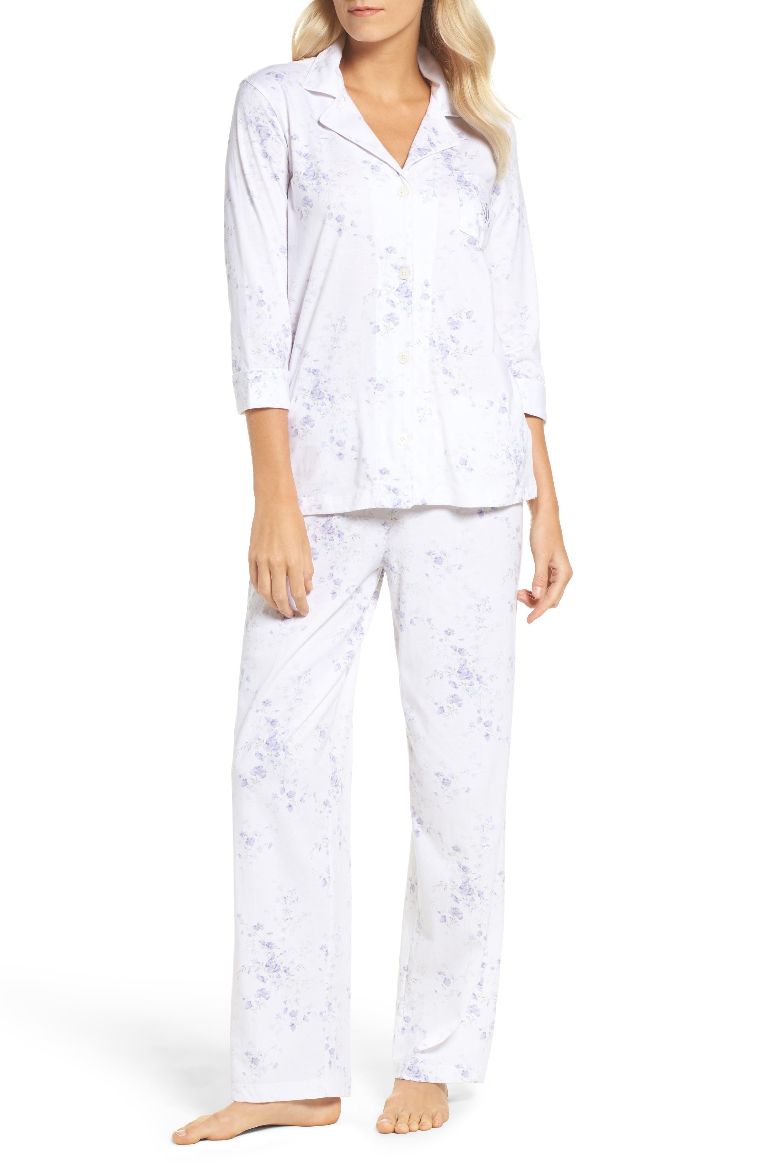 Notch Collar Pajamas,                             Main thumbnail 2, color,