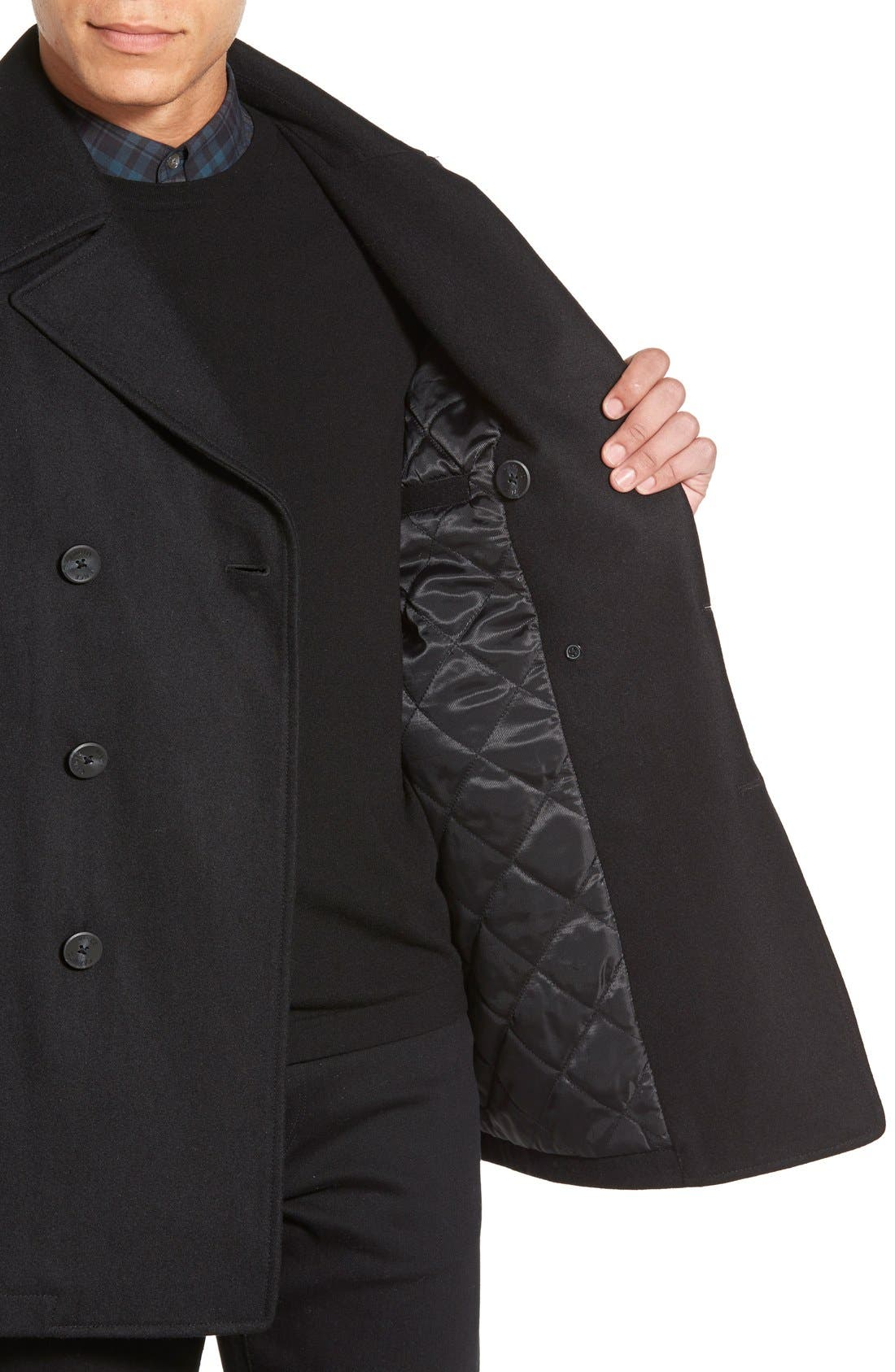 Classic Peacoat,                             Alternate thumbnail 4, color,                             BLACK