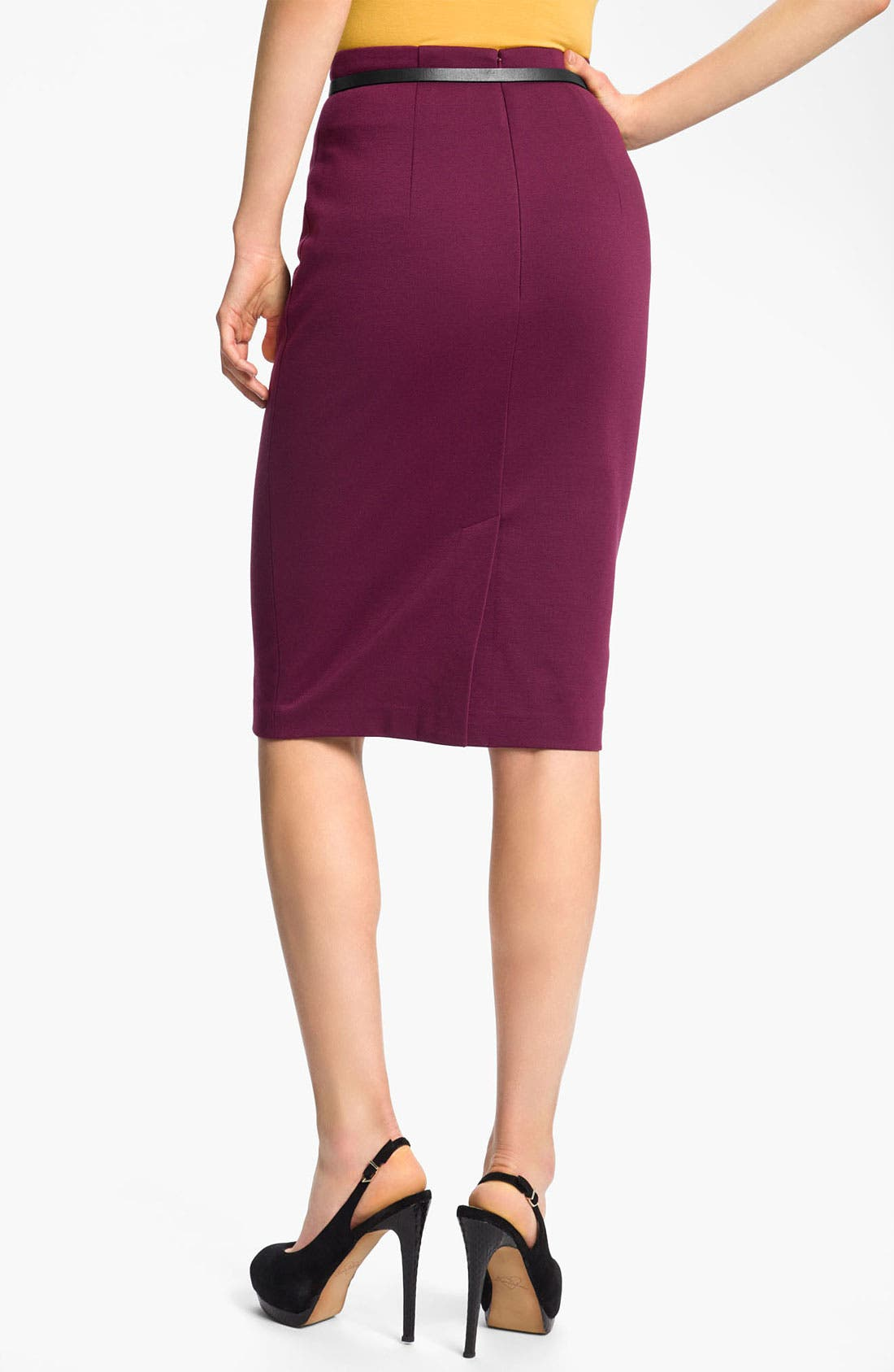 Belted Ponte Skirt,                             Alternate thumbnail 36, color,