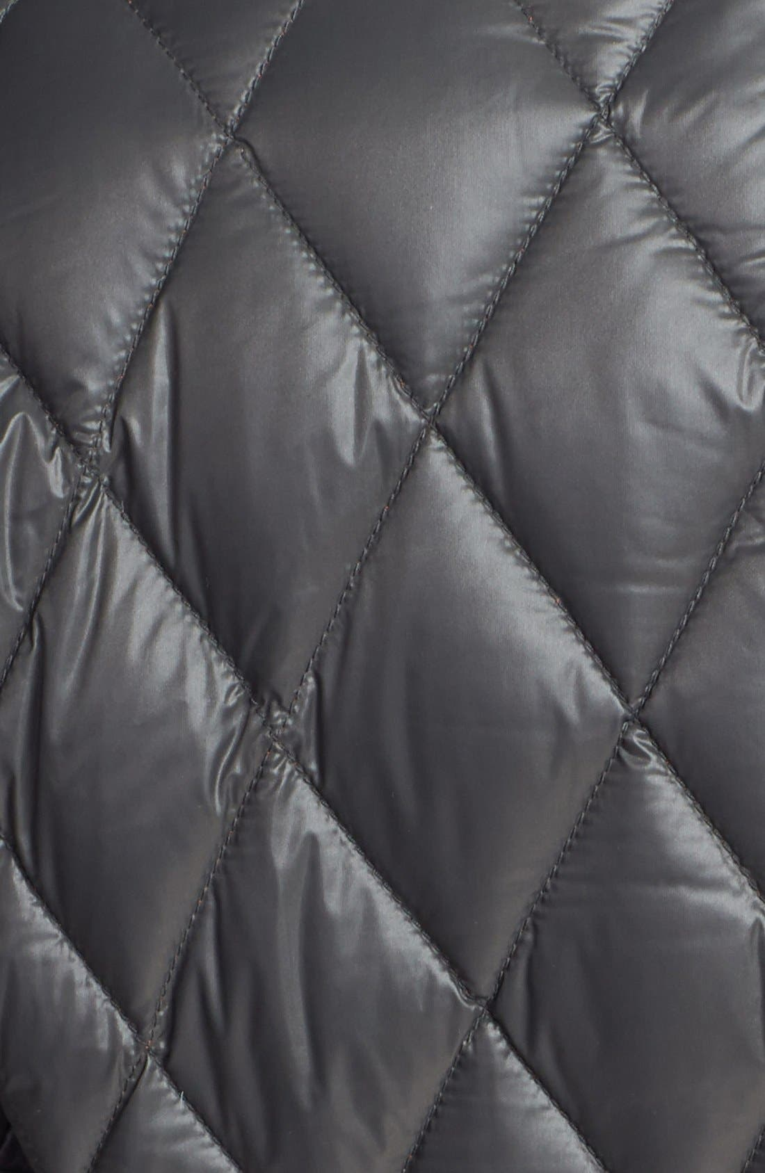 Snap Front Quilted Down Jacket,                             Alternate thumbnail 3, color,                             077