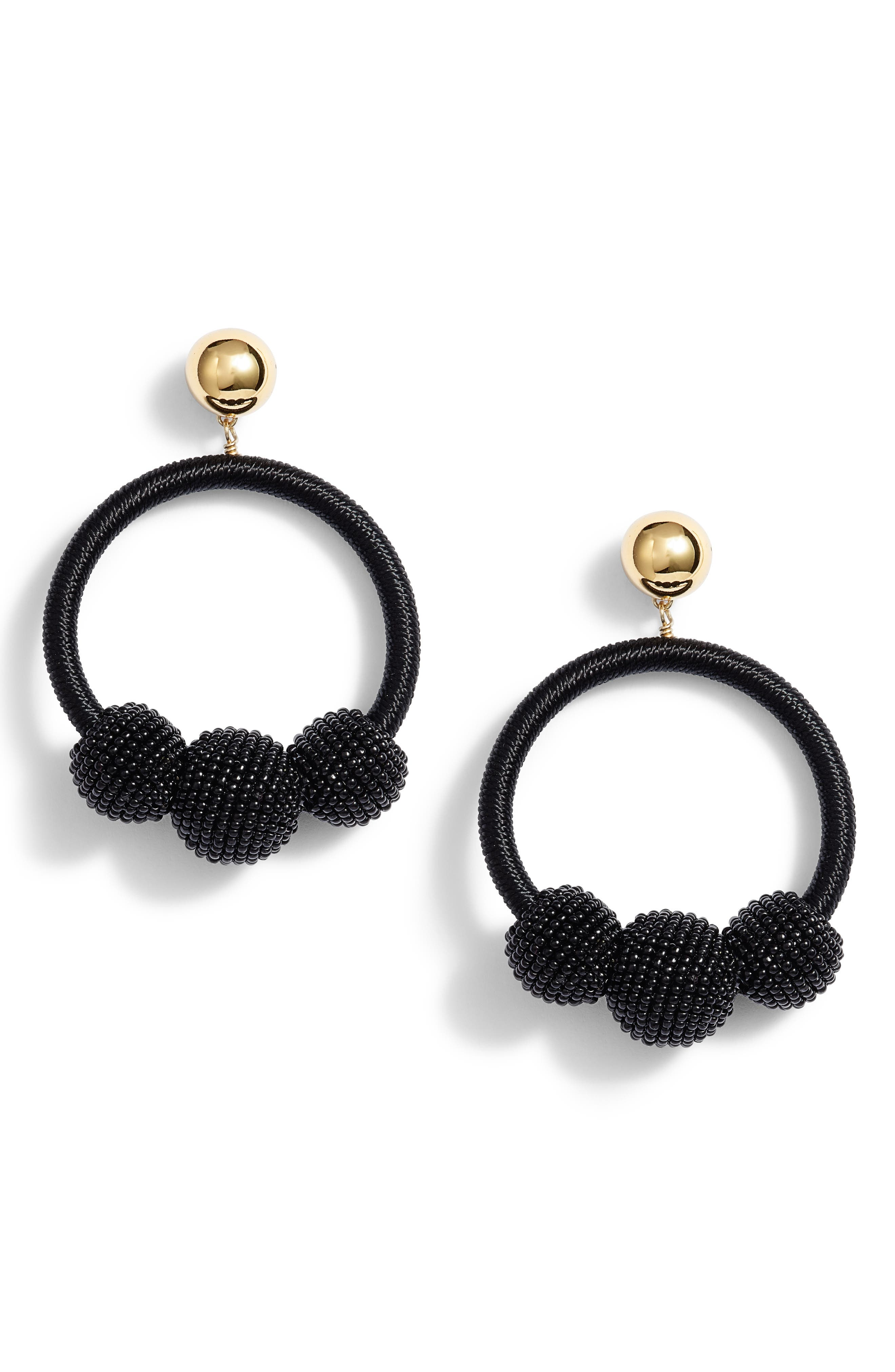 the bead goes on hoop statement earrings,                             Main thumbnail 1, color,                             001