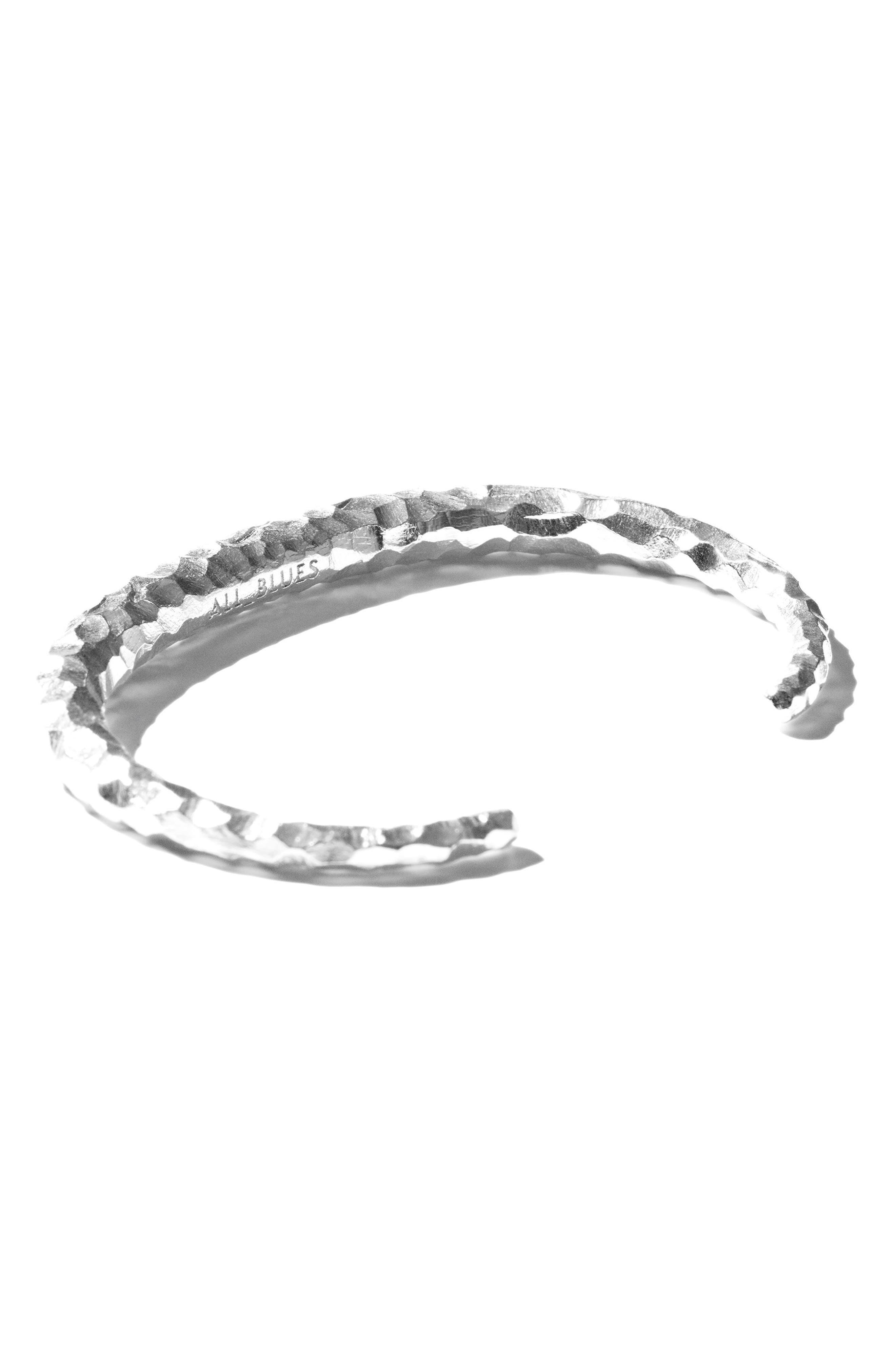 Large Snake Carved Silver Bracelet,                             Alternate thumbnail 3, color,                             CARVED SILVER