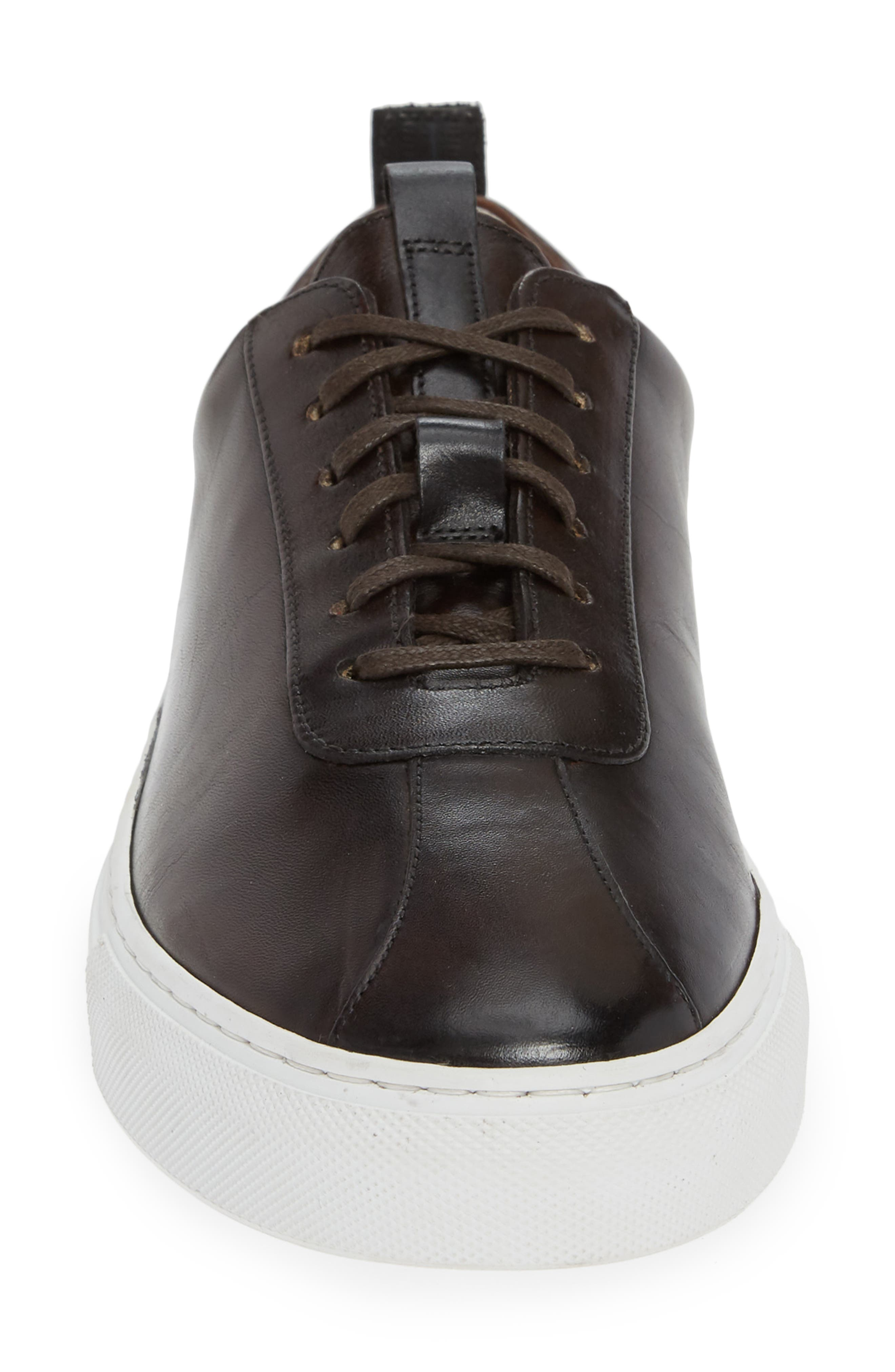 GRENSON,                             Low Top Sneaker,                             Alternate thumbnail 4, color,                             BROWN HAND PAINTED