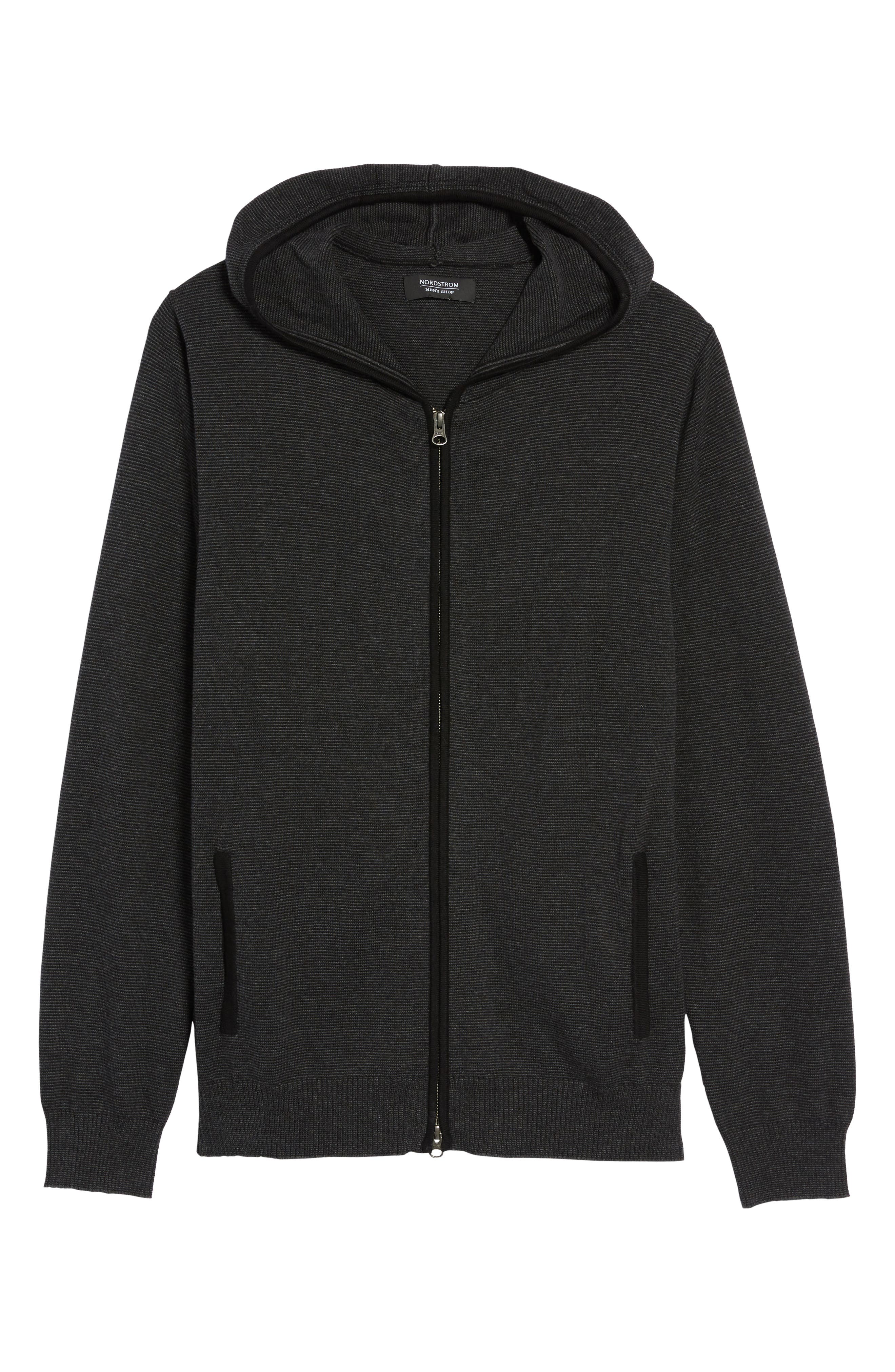 Zip Front Hooded Sweater,                             Alternate thumbnail 16, color,