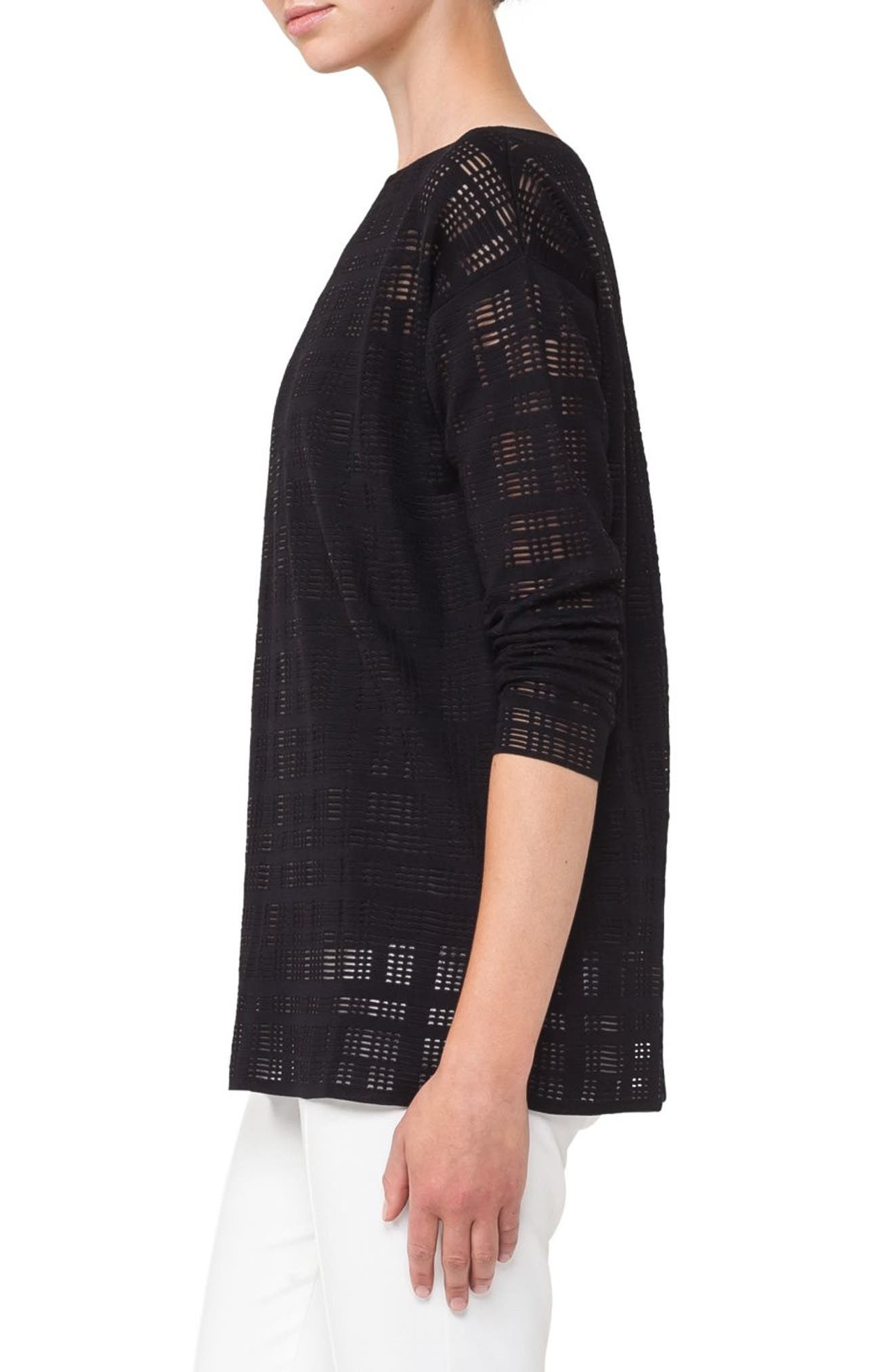 Square Embroidered Silk Blend Tunic,                             Alternate thumbnail 3, color,                             009