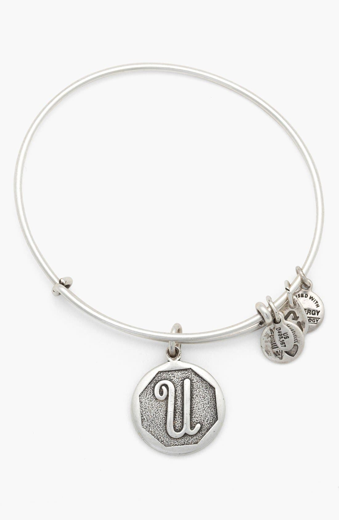 'Initial' Adjustable Wire Bangle,                             Main thumbnail 21, color,