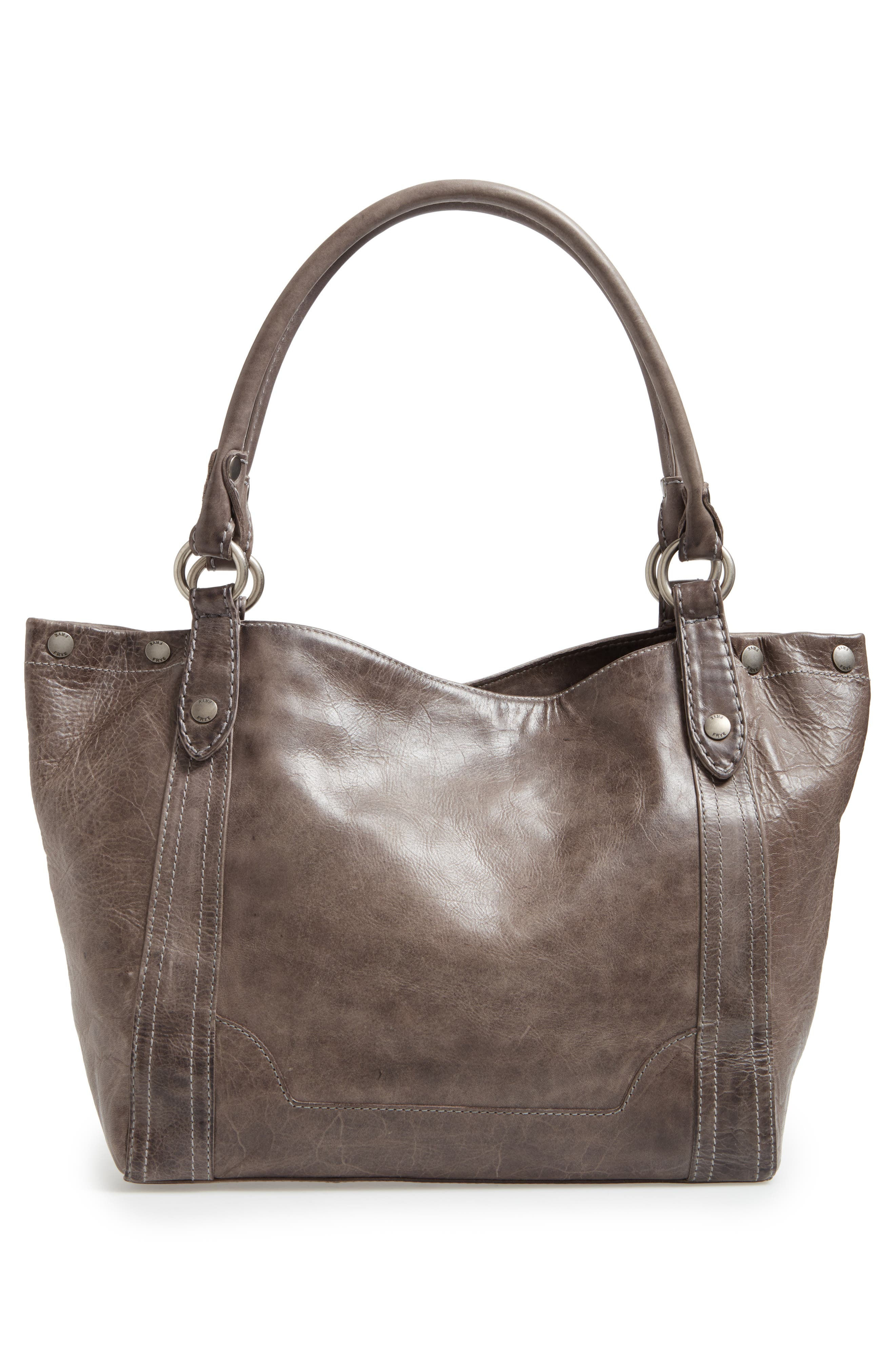Melissa Leather Shoulder Bag,                             Alternate thumbnail 3, color,                             ICE