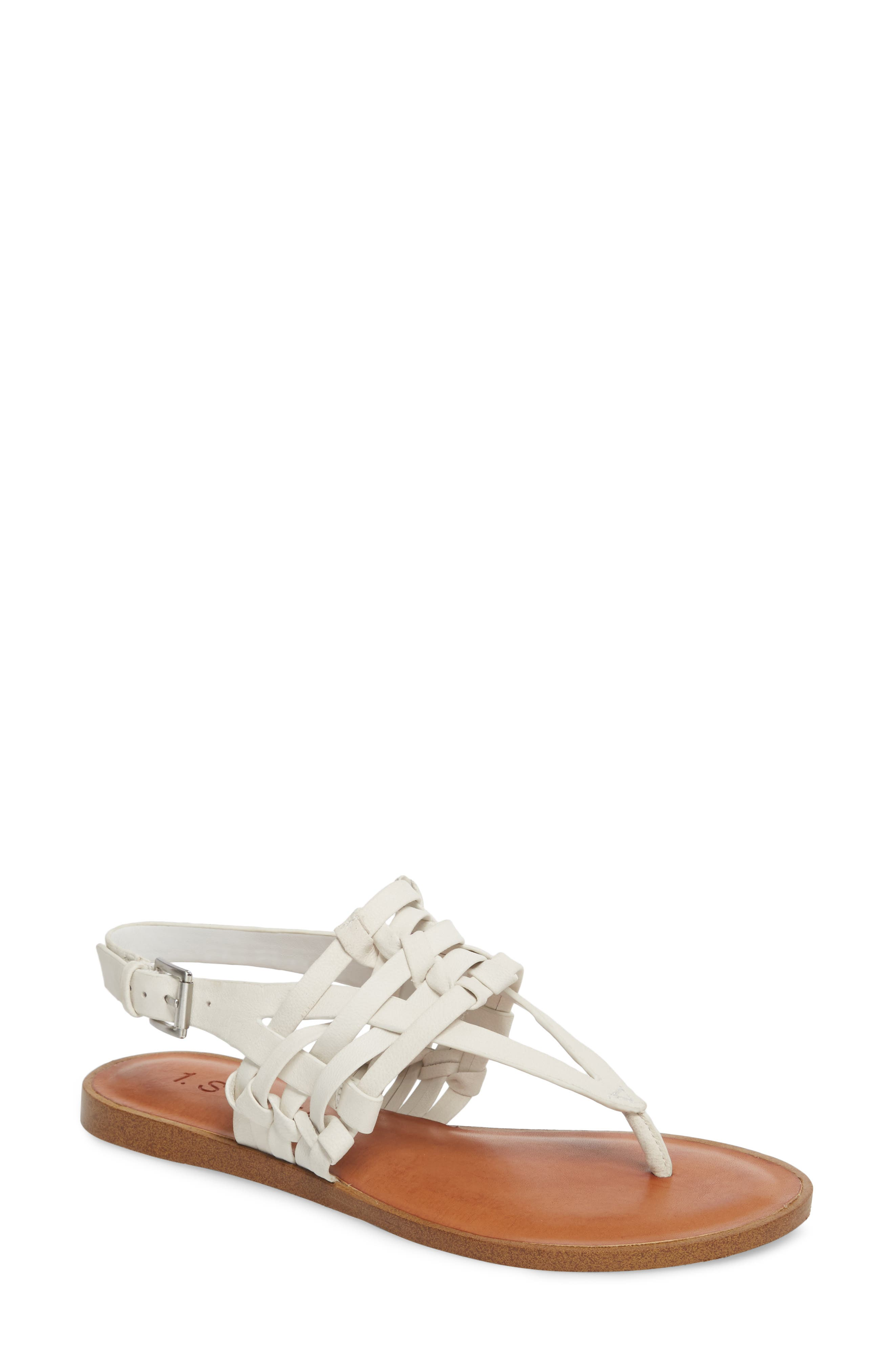 Lenn Sandal,                         Main,                         color, WHITE NUBUCK LEATHER