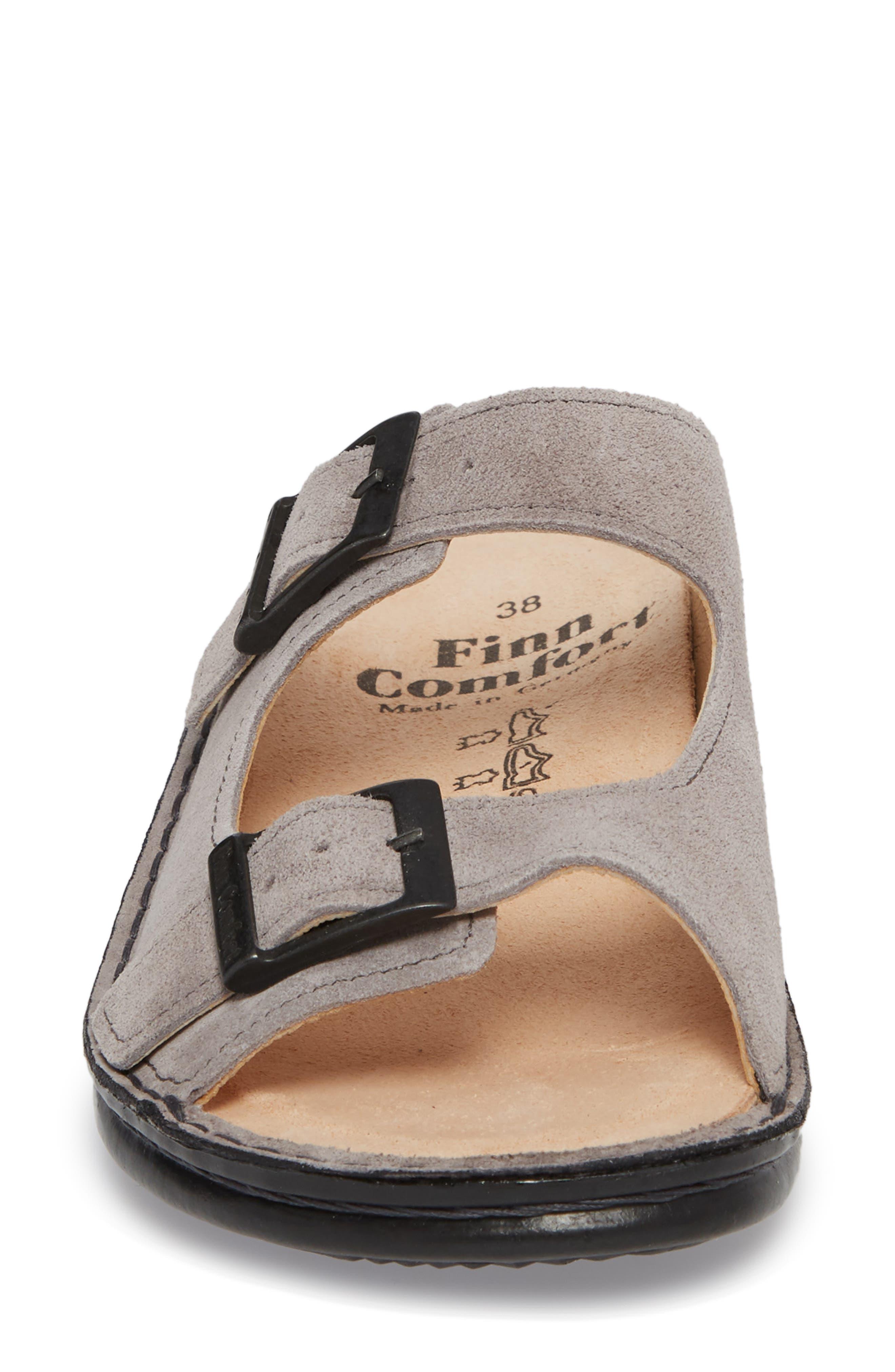 Hollister Slide Sandal,                             Alternate thumbnail 4, color,                             GINGER LEATHER