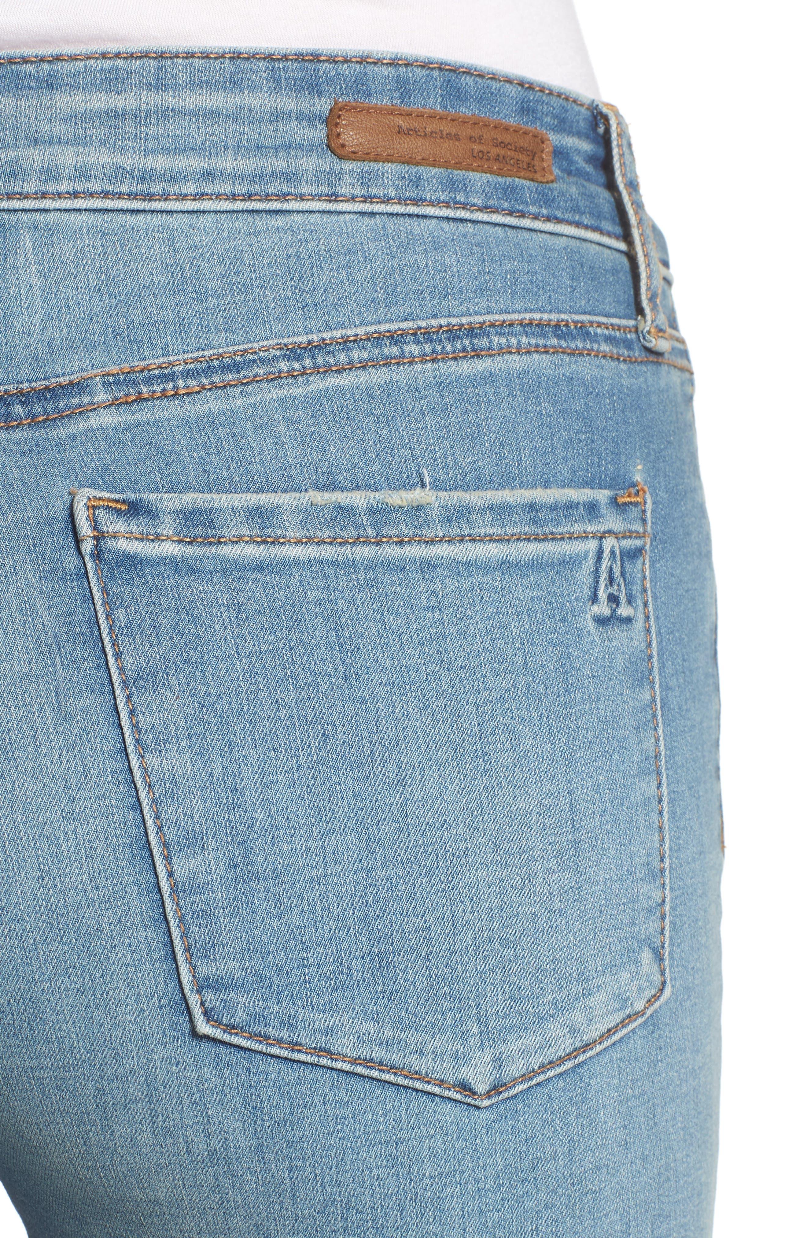 Heather High Waist Skinny Jeans,                             Alternate thumbnail 4, color,                             481