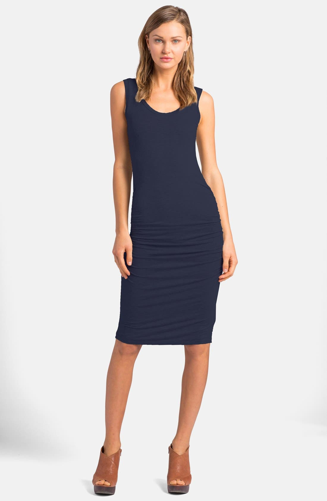 'Frankie' Ruched Tank Dress,                             Main thumbnail 6, color,