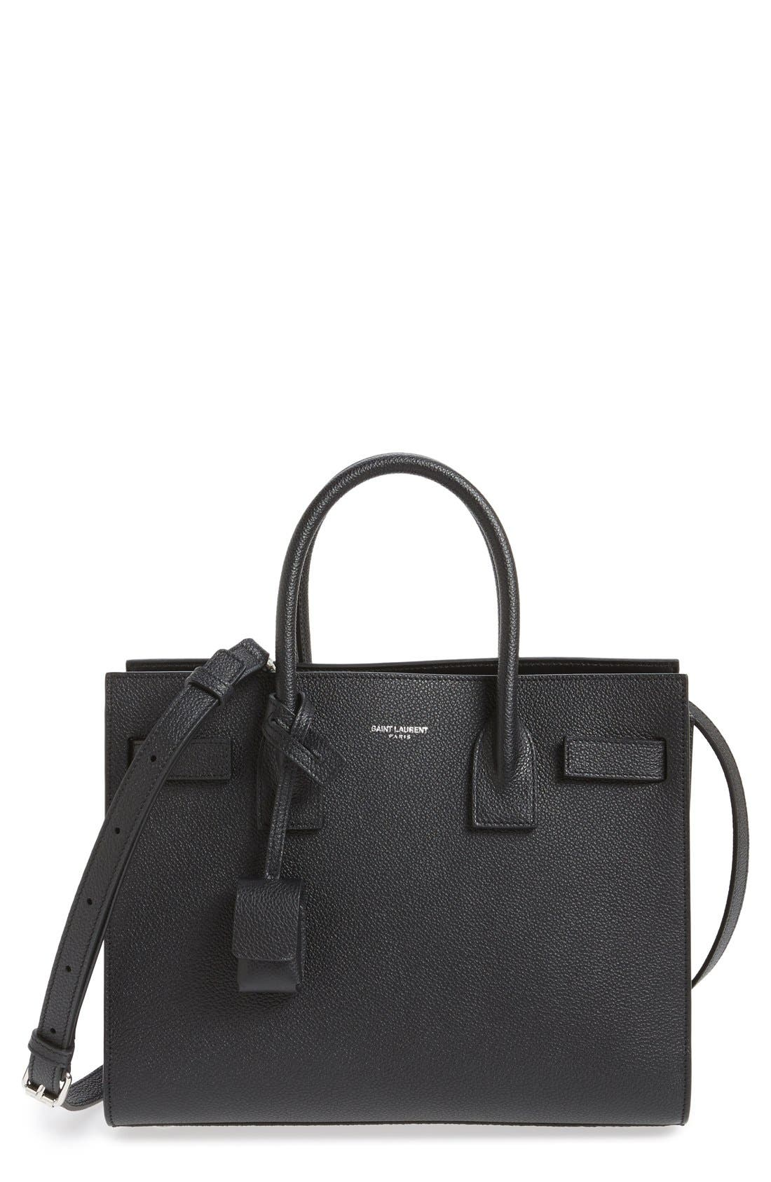 'Baby Sac de Jour' Bonded Leather Tote,                         Main,                         color, 002
