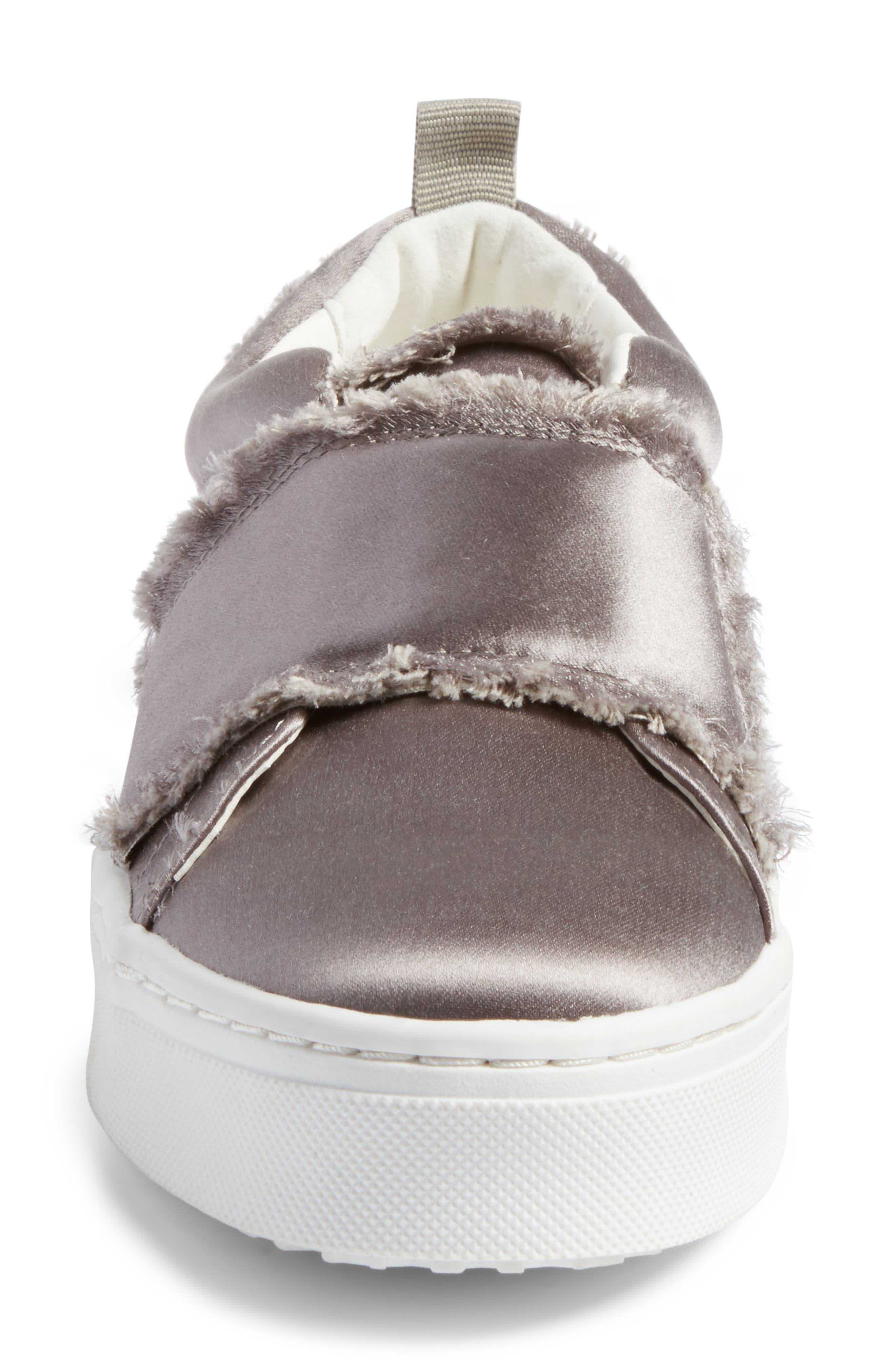 Levine Fringe Slip-On Platform Sneaker,                             Alternate thumbnail 4, color,                             020