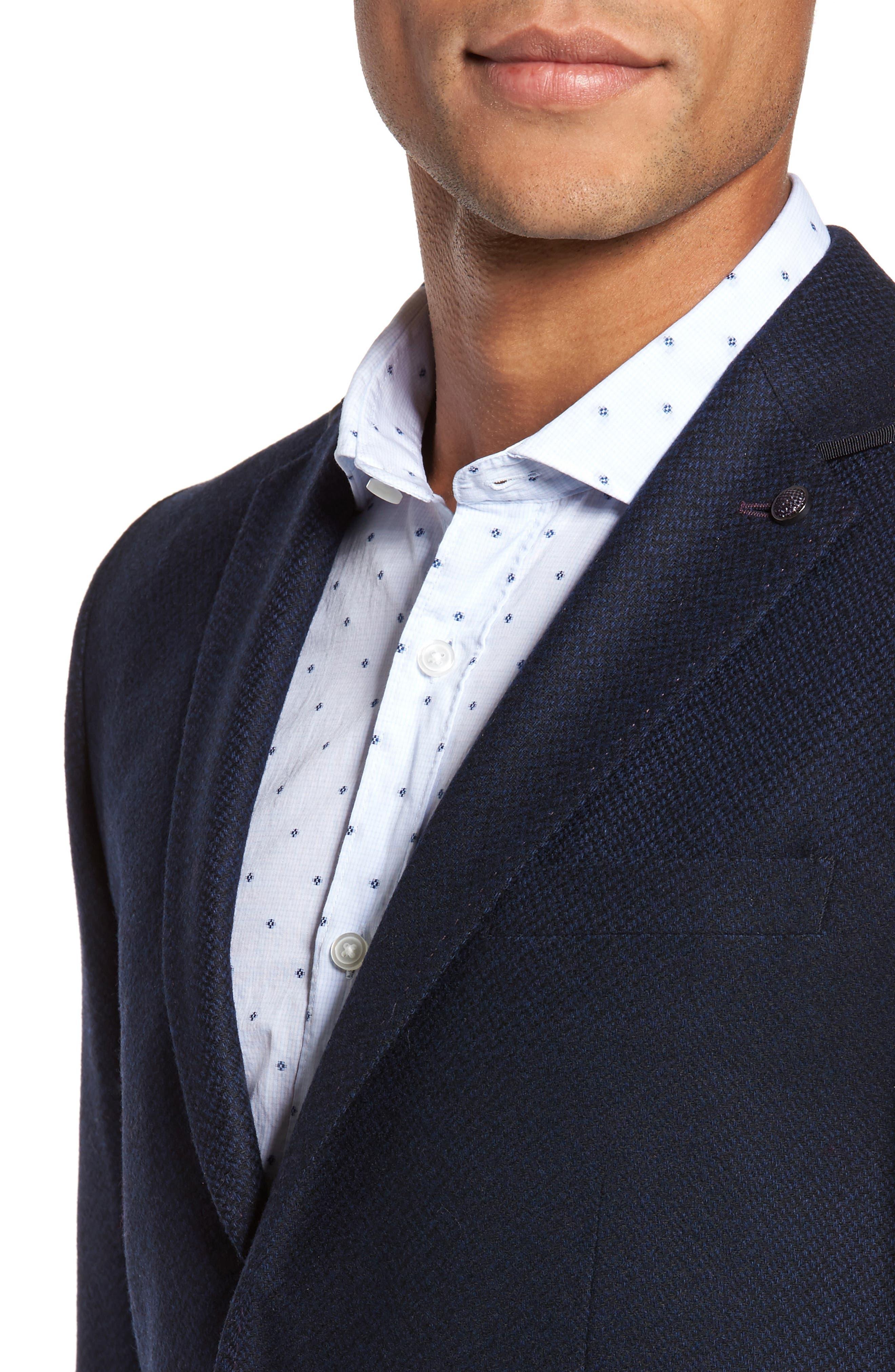Modern Slim Fit Herringbone Blazer,                             Alternate thumbnail 4, color,                             410