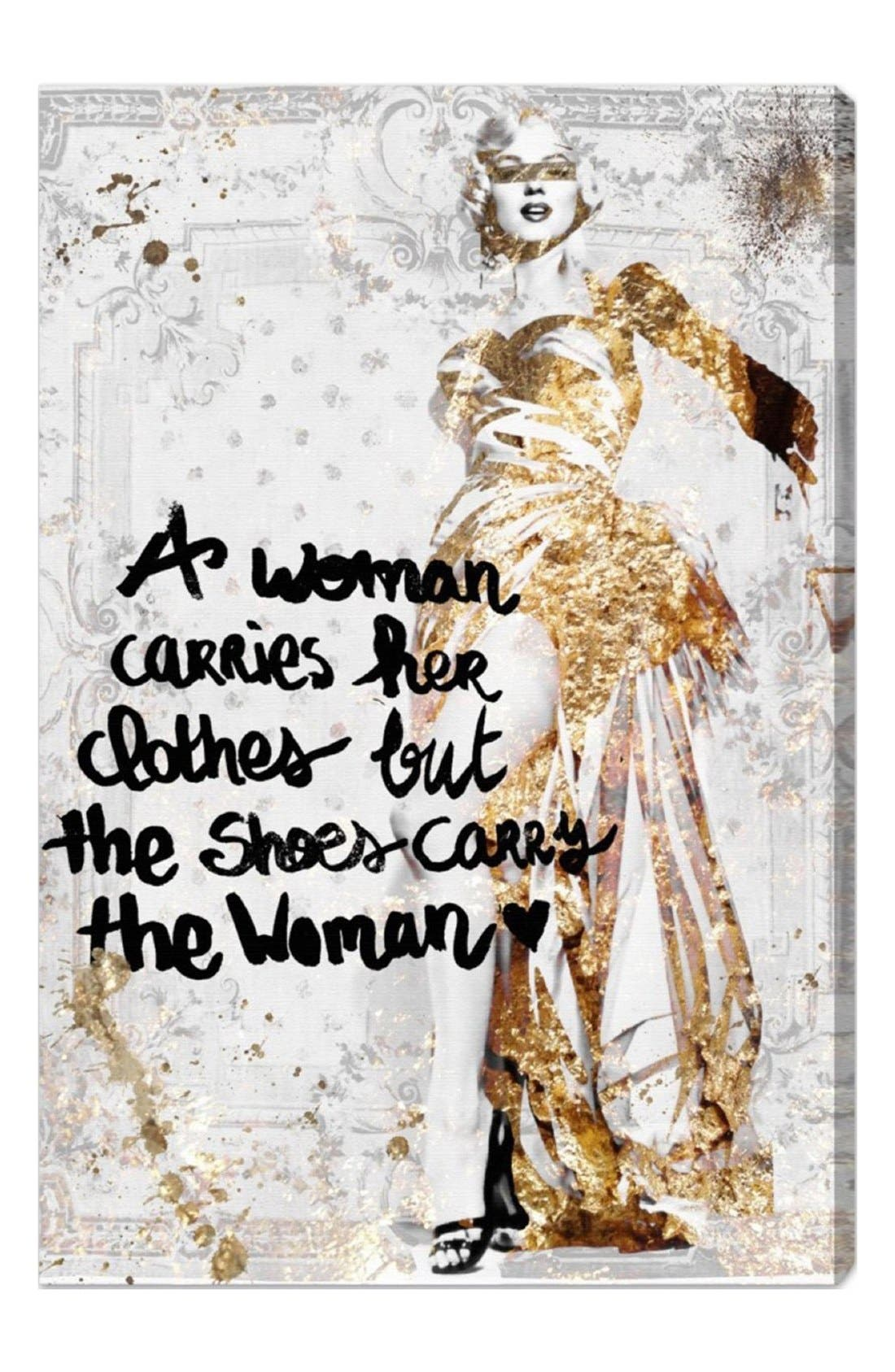 'The Shoes Carry the Woman' Canvas Wall Art,                             Main thumbnail 1, color,                             040