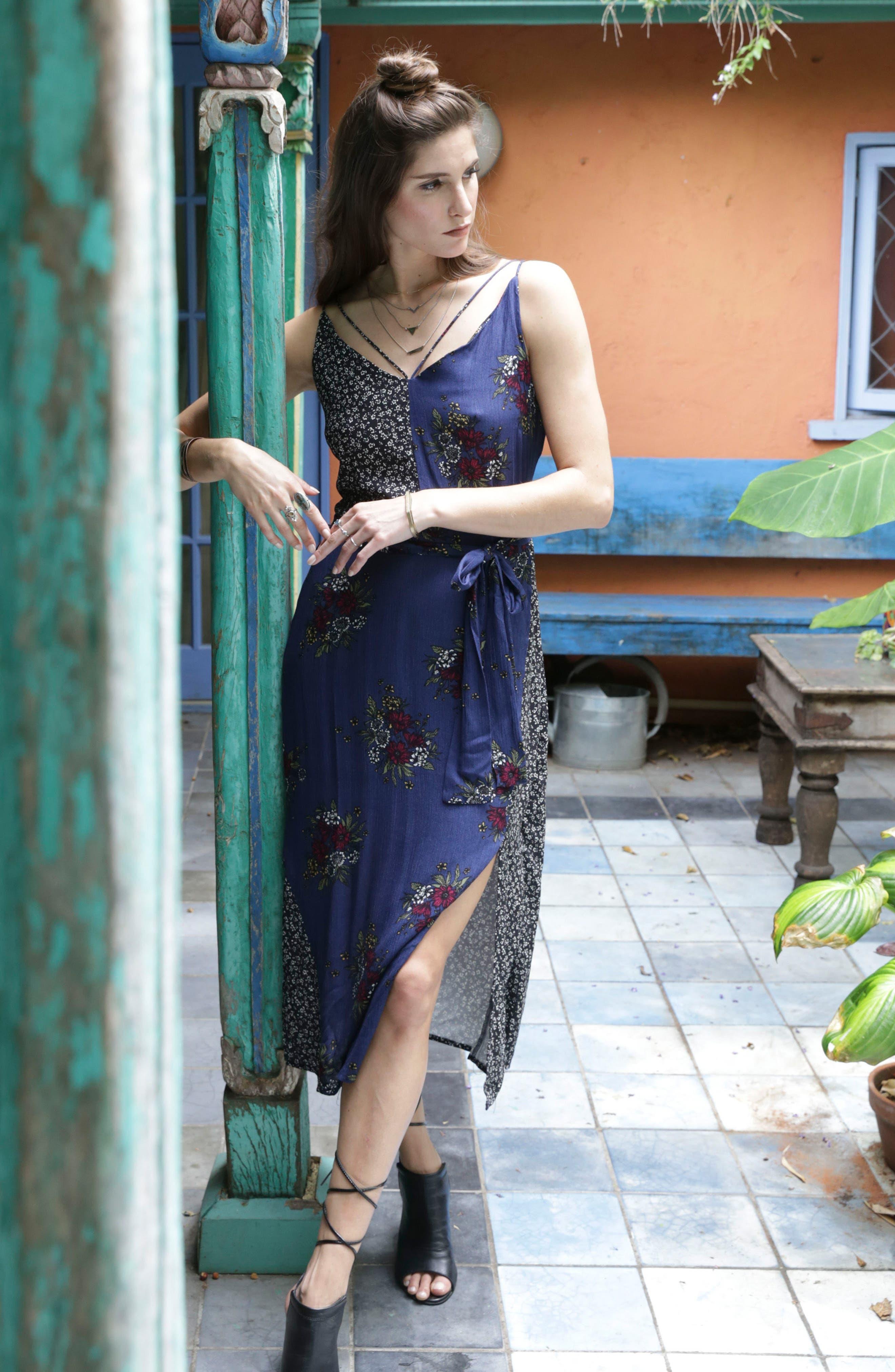 See Me Print Midi Dress,                             Alternate thumbnail 7, color,                             400