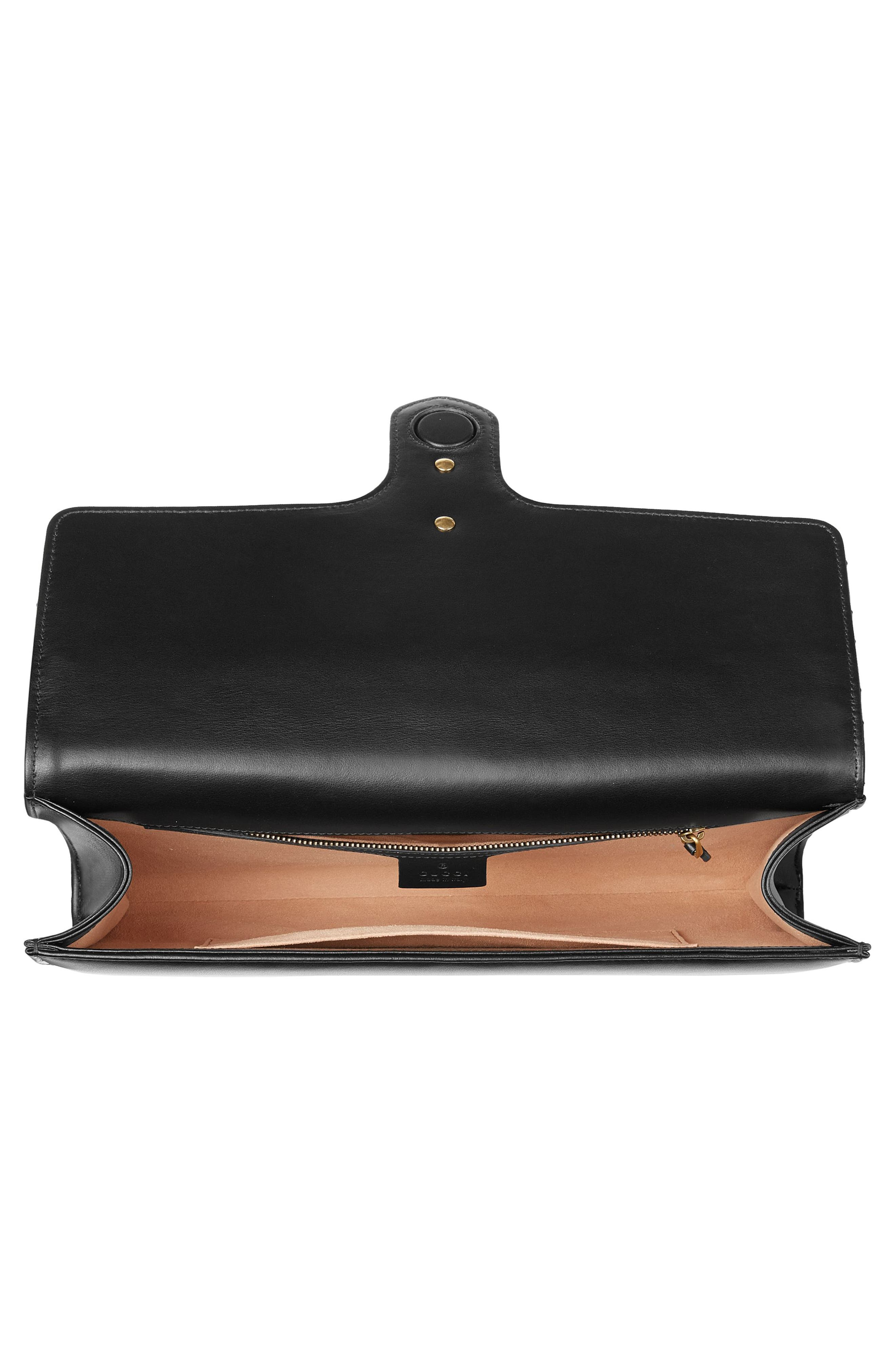 GG Marmont 2.0 Matelassé Leather Clutch,                             Alternate thumbnail 3, color,                             005