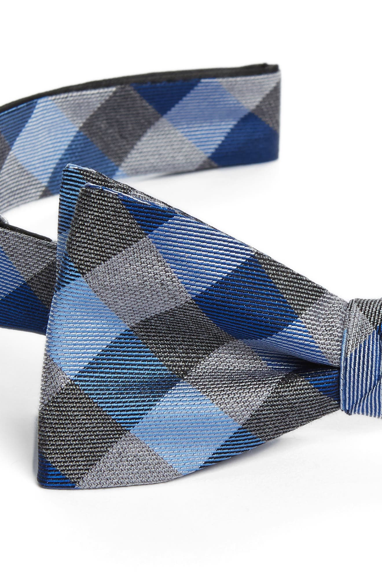 Gingham Silk Bow Tie,                             Alternate thumbnail 3, color,                             411