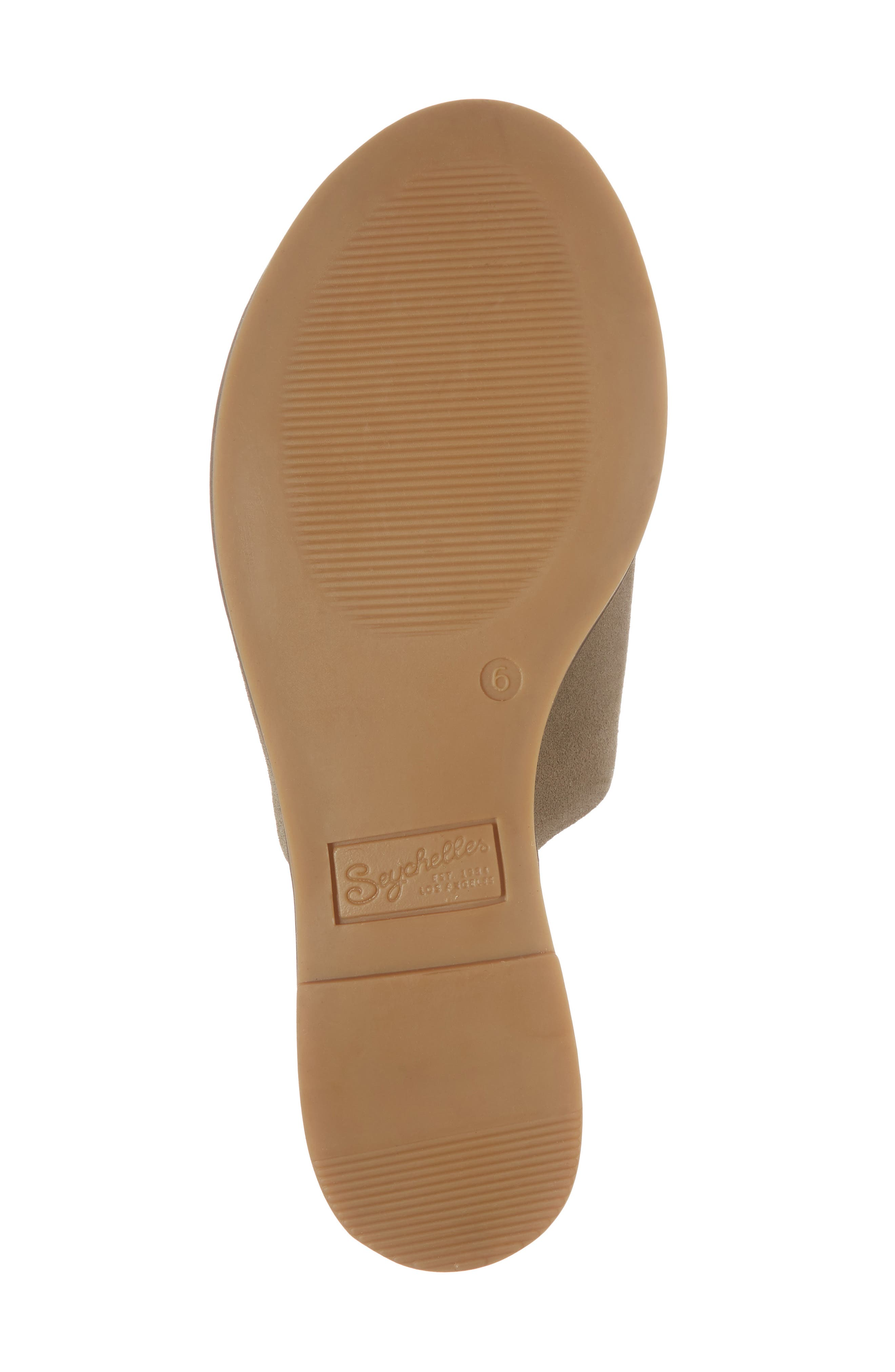 Relaxing Wedge Slide Sandal,                             Alternate thumbnail 6, color,                             TAUPE LEATHER