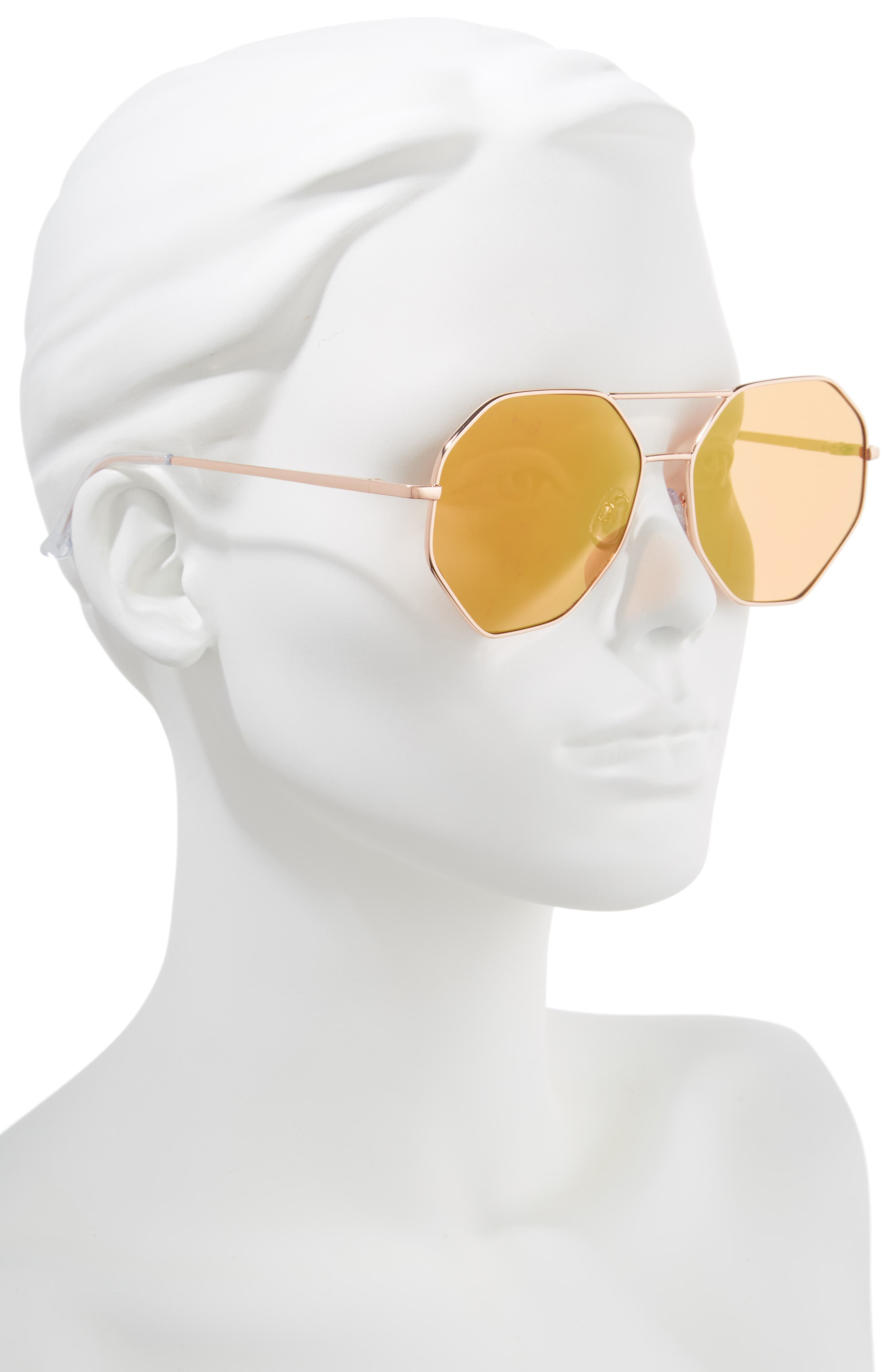 Hexcon Aviator Sunglasses,                             Alternate thumbnail 2, color,                             710