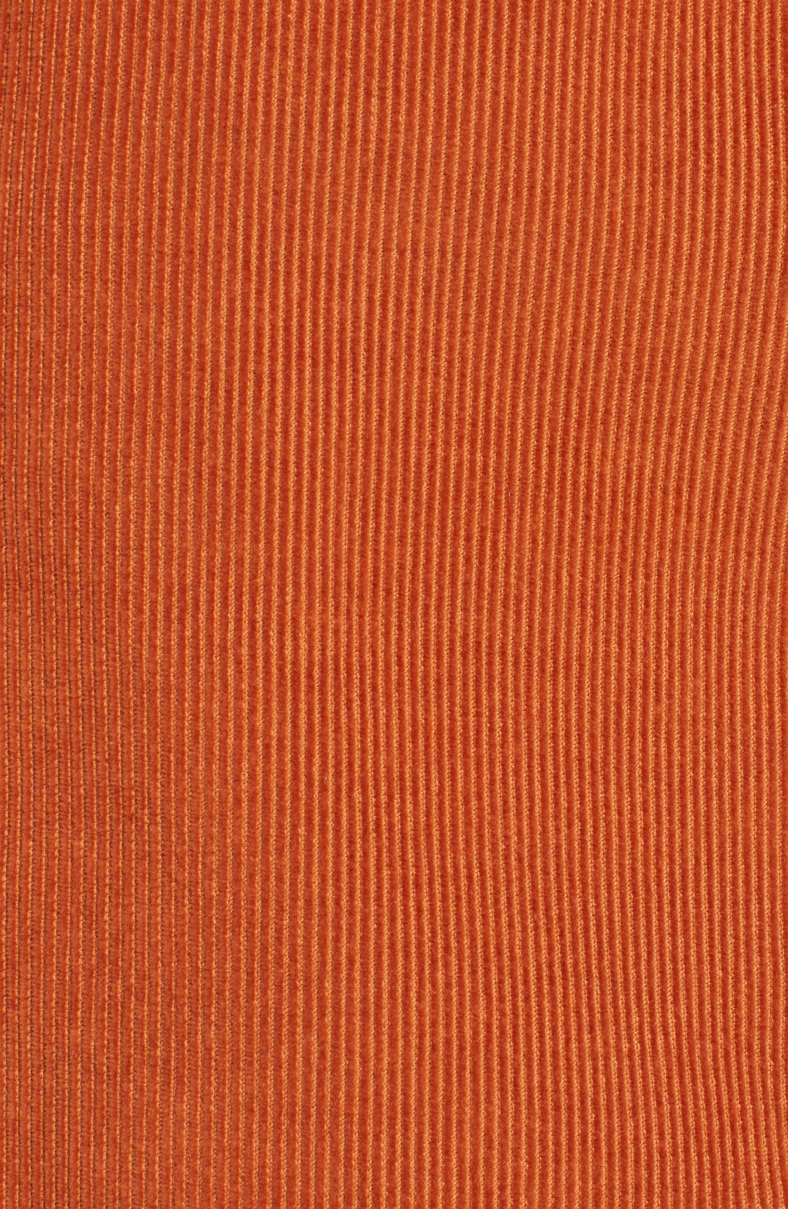 Cord Miniskirt,                             Alternate thumbnail 5, color,                             TOBACCO