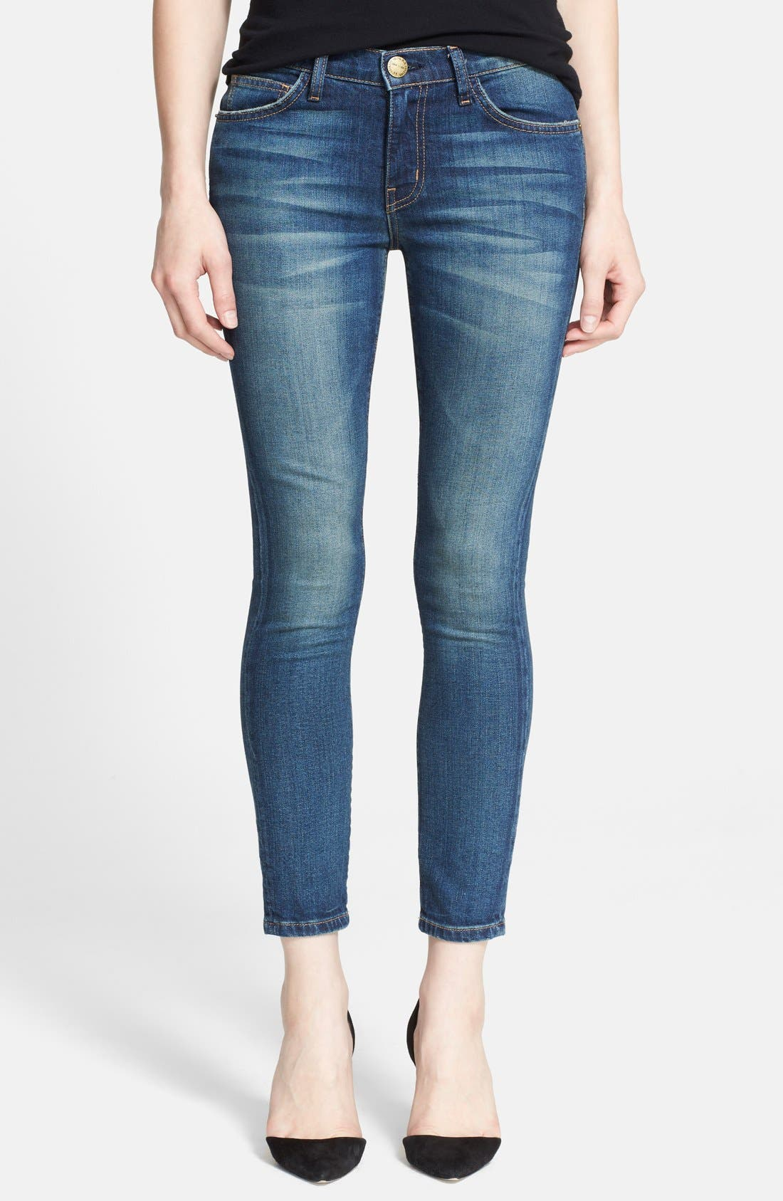 'The Stiletto' Destroyed Skinny Jeans,                             Main thumbnail 9, color,