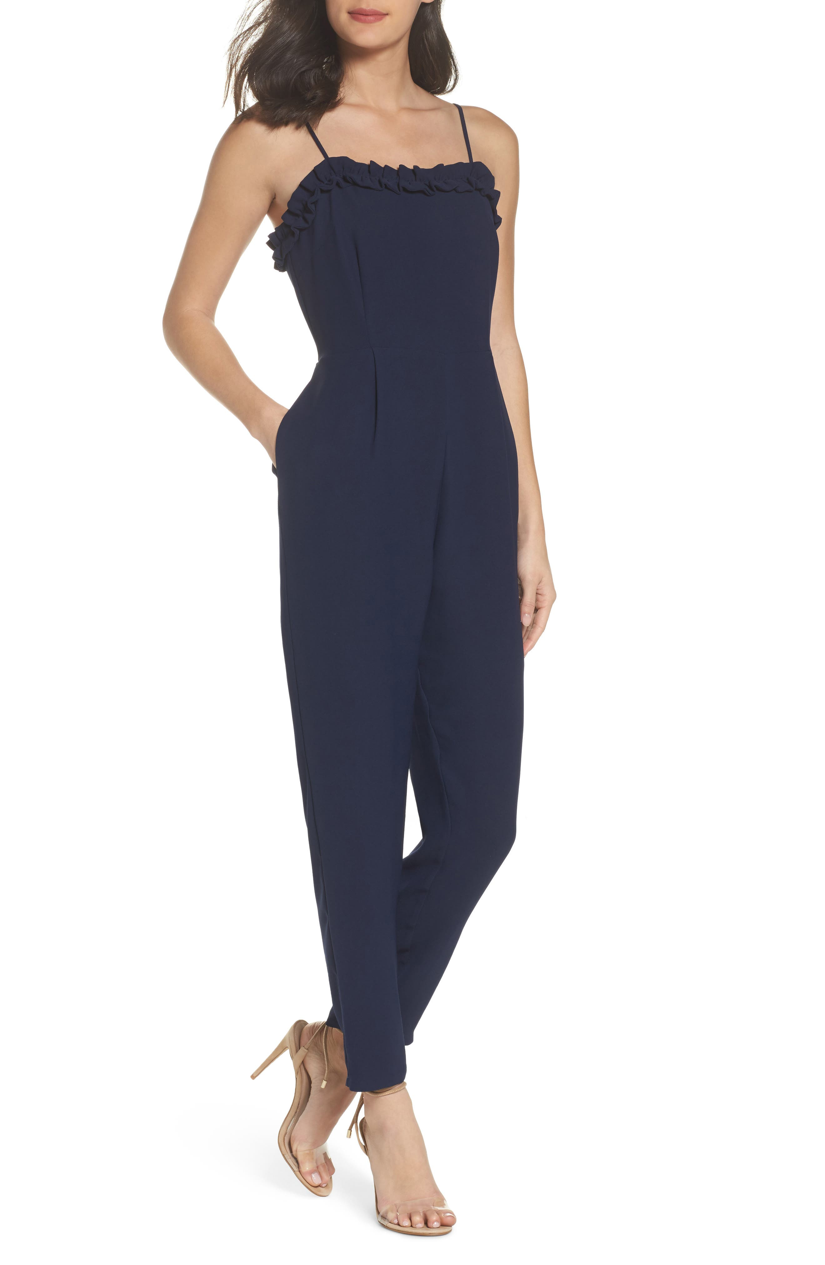 Ruffle Jumpsuit,                         Main,                         color, 410