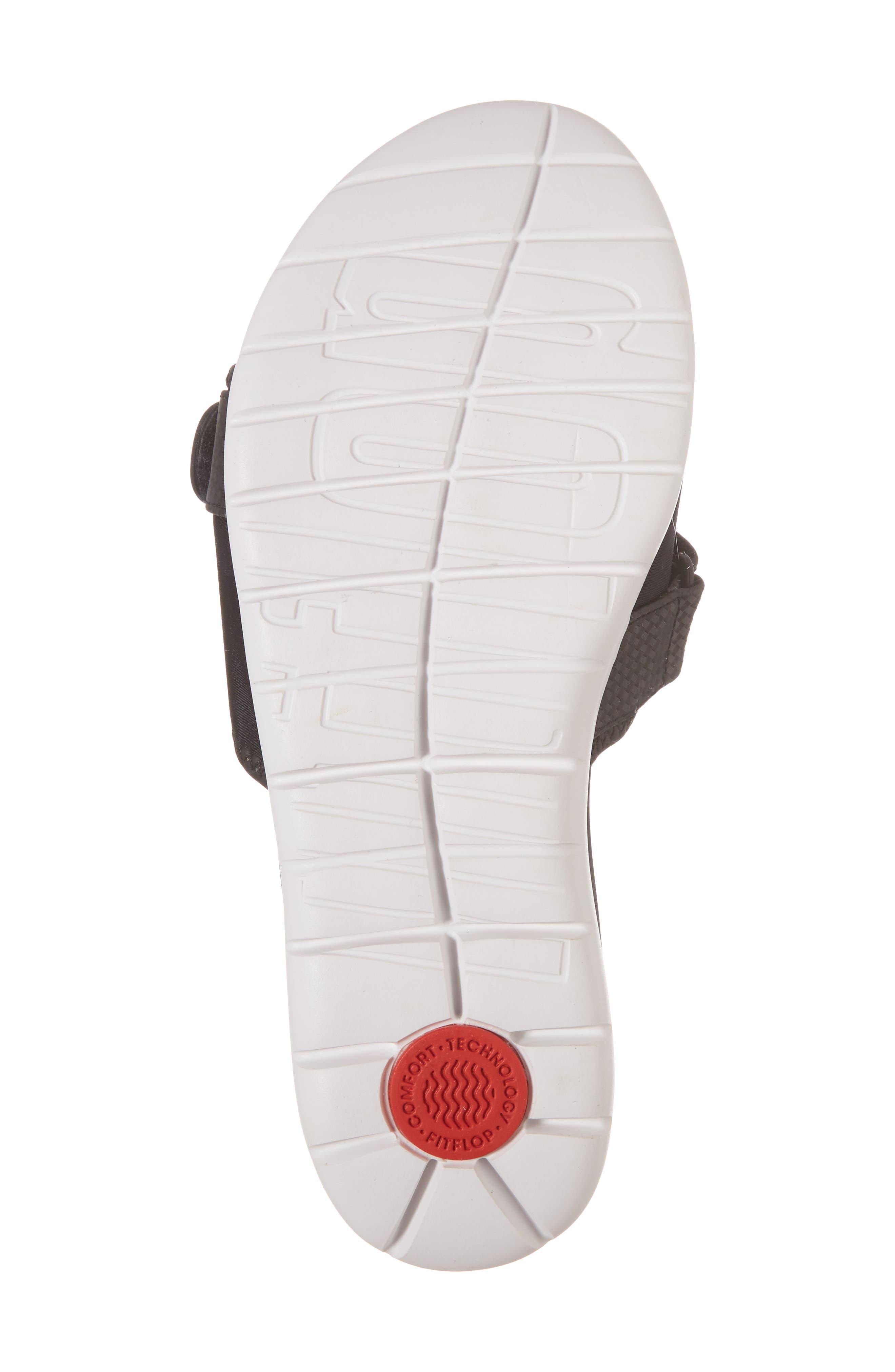 Neoflex Slide Sandal,                             Alternate thumbnail 6, color,                             BLACK FABRIC