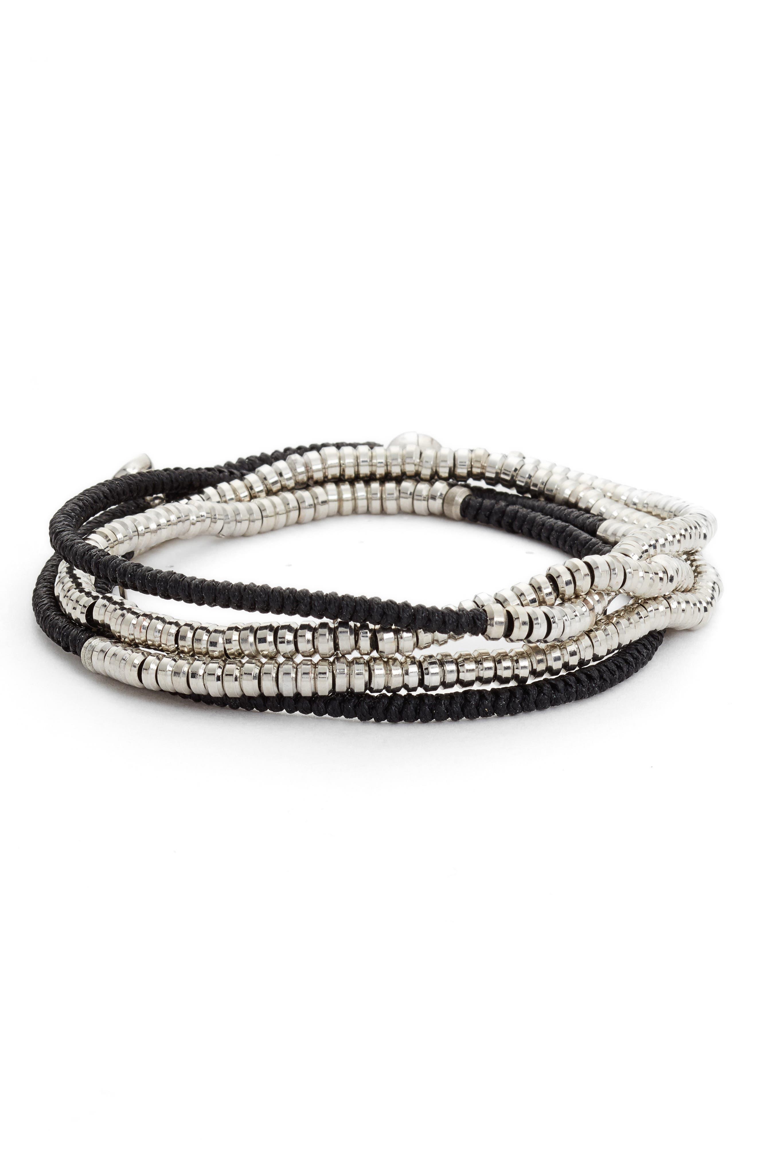 Heishi Wrap Bracelet,                             Main thumbnail 1, color,