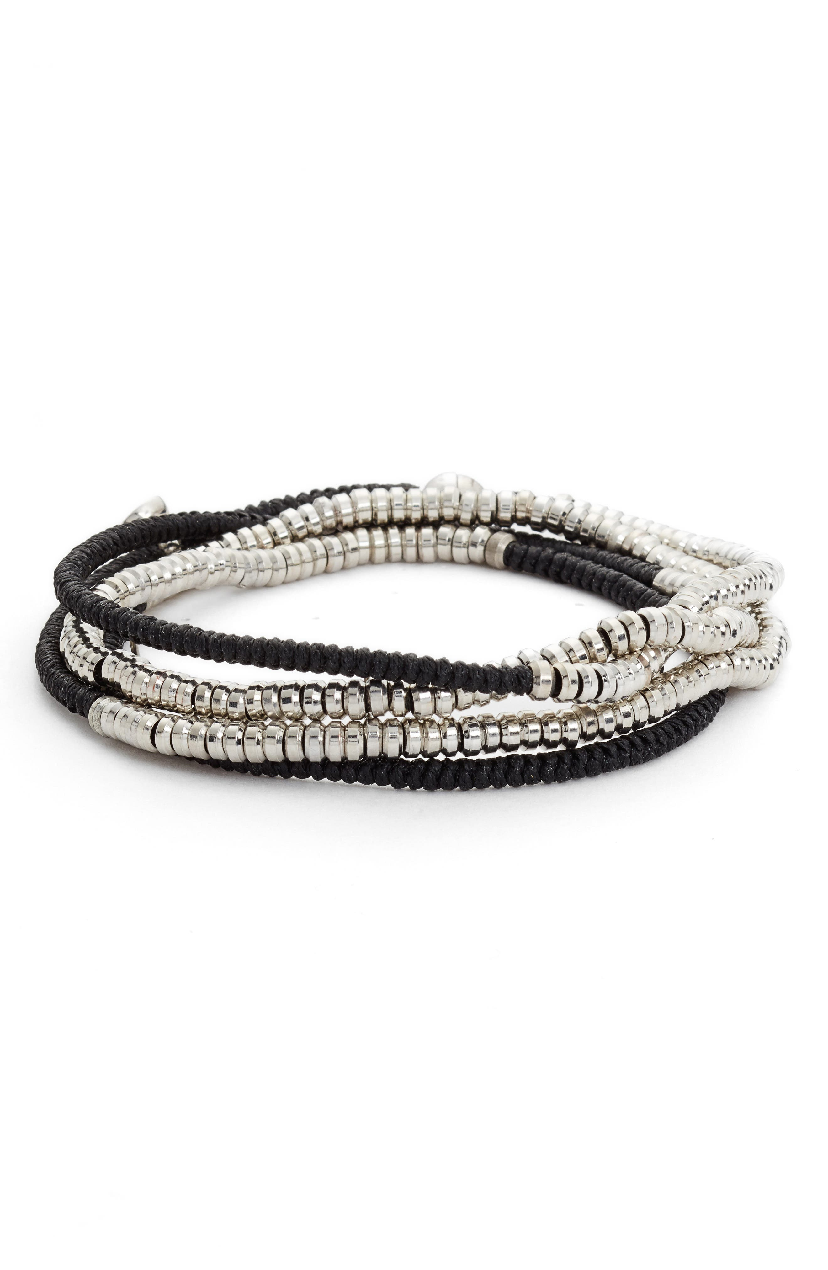 Heishi Wrap Bracelet,                         Main,                         color,