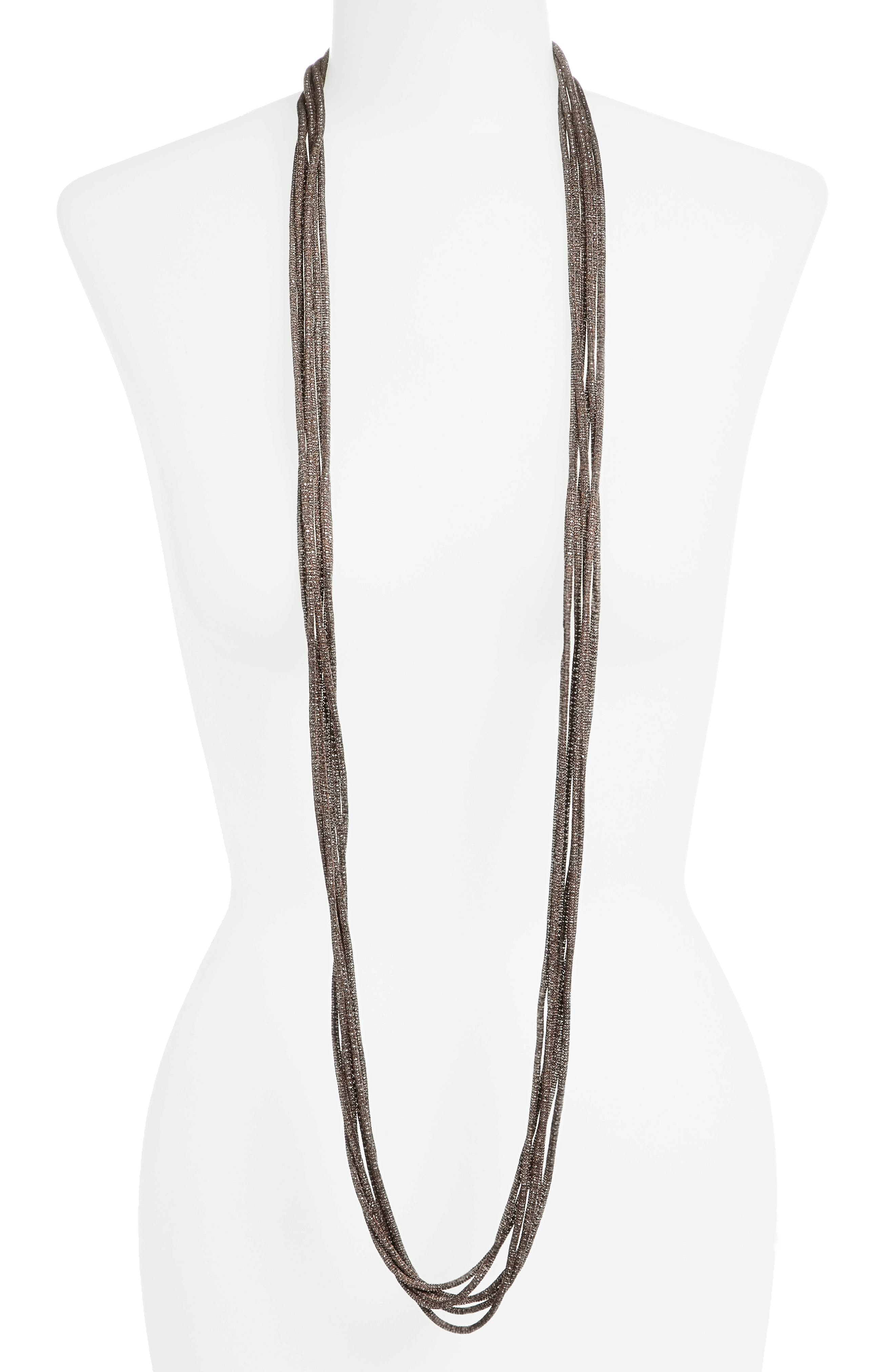 Mesh Chain Multistrand Necklace,                             Alternate thumbnail 2, color,                             072