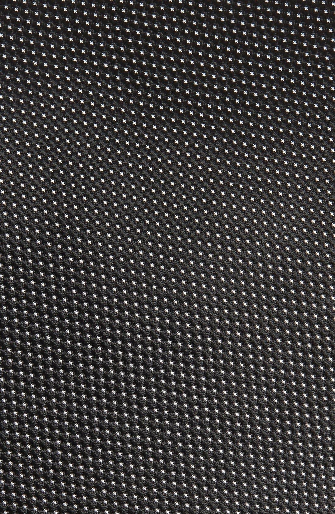 Microdot Silk Tie,                             Alternate thumbnail 3, color,                             BLACK