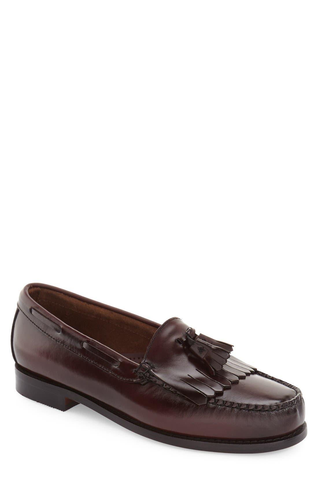 G.H. BASS & CO. 'Layton' Tassel Loafer, Main, color, BURGUNDY