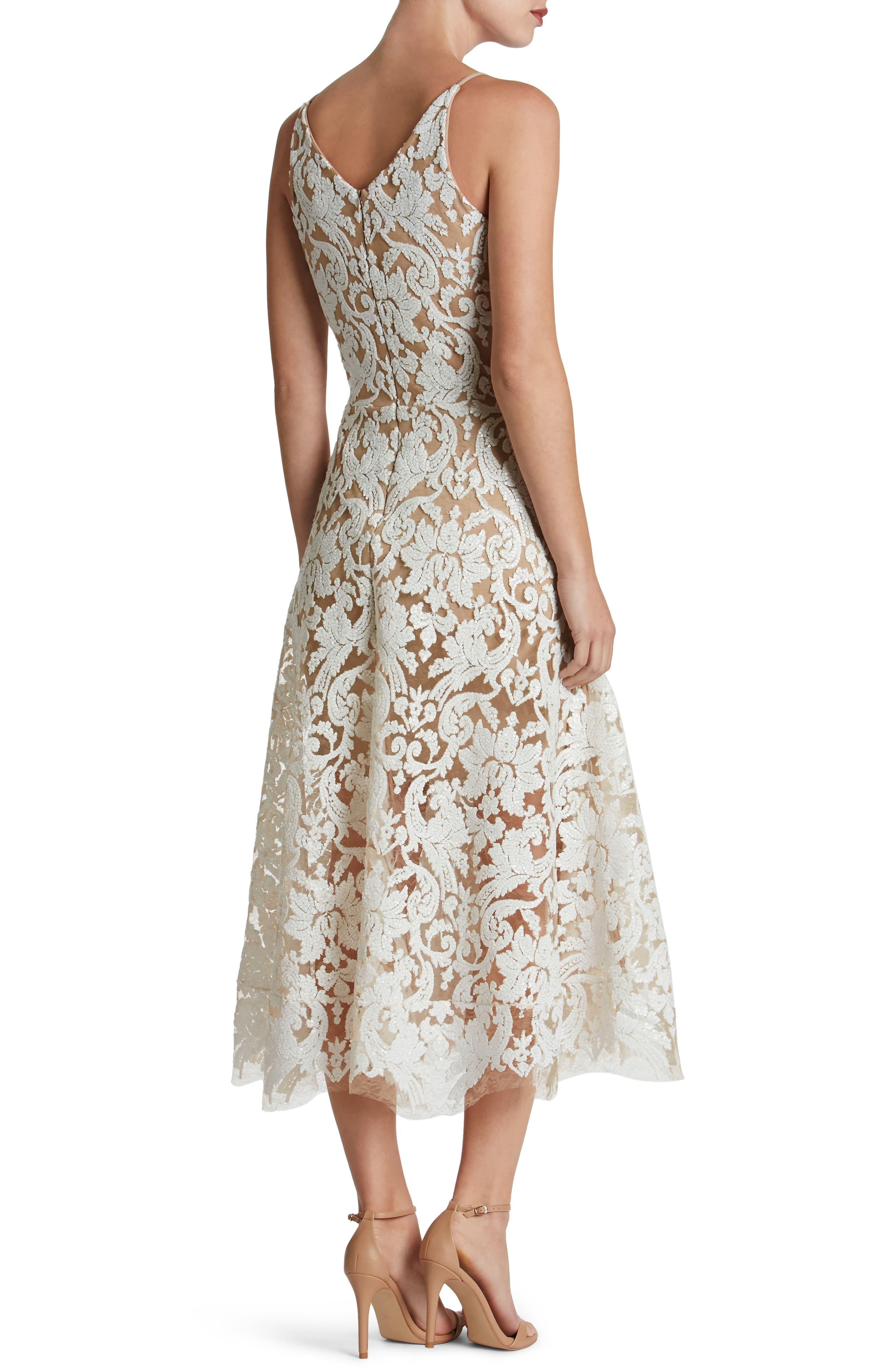 Blair Embellished Fit & Flare Dress,                             Alternate thumbnail 10, color,