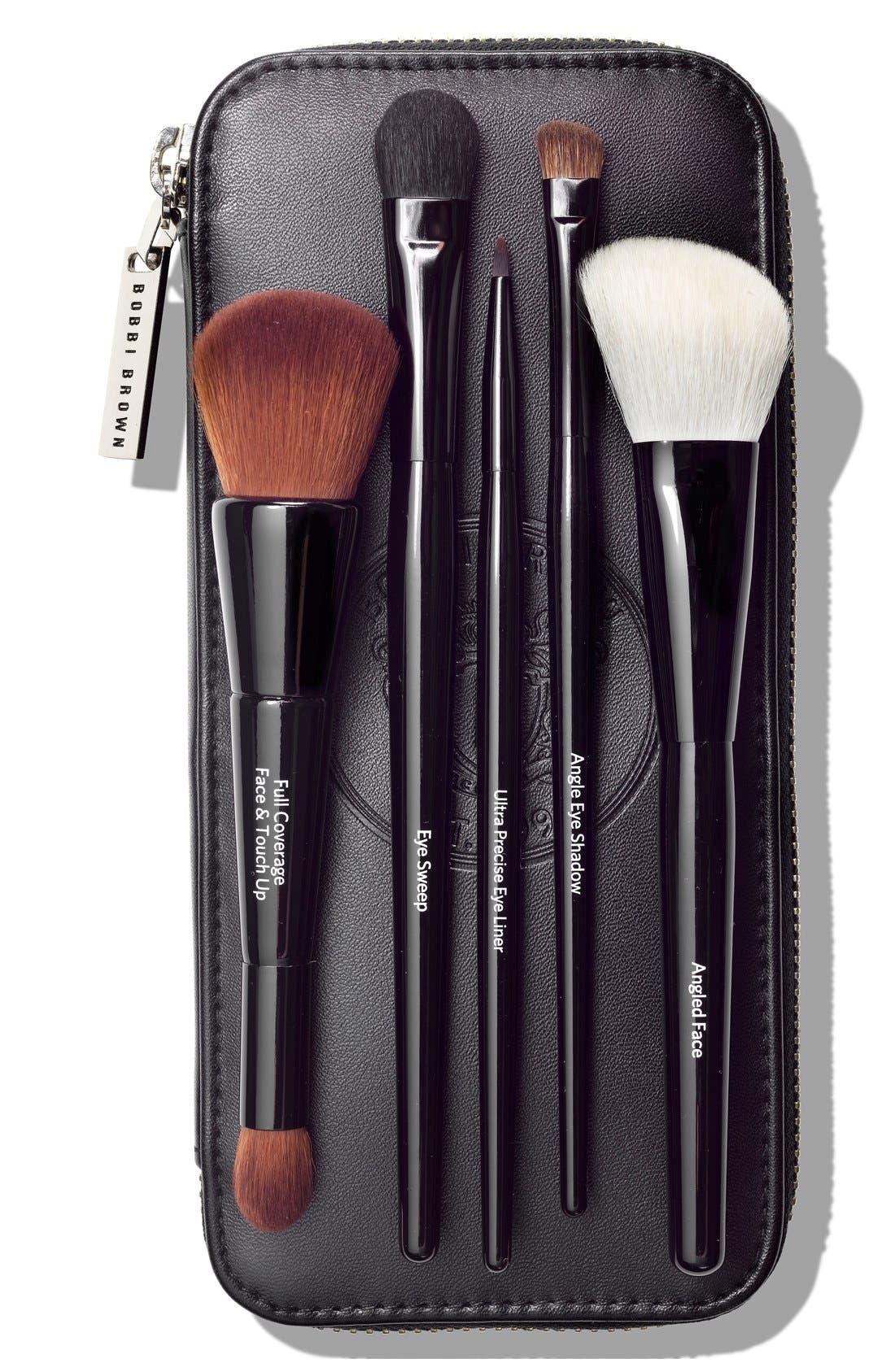 'Bobbi on Trend - Full-Size Brushes' Set,                             Main thumbnail 1, color,                             000