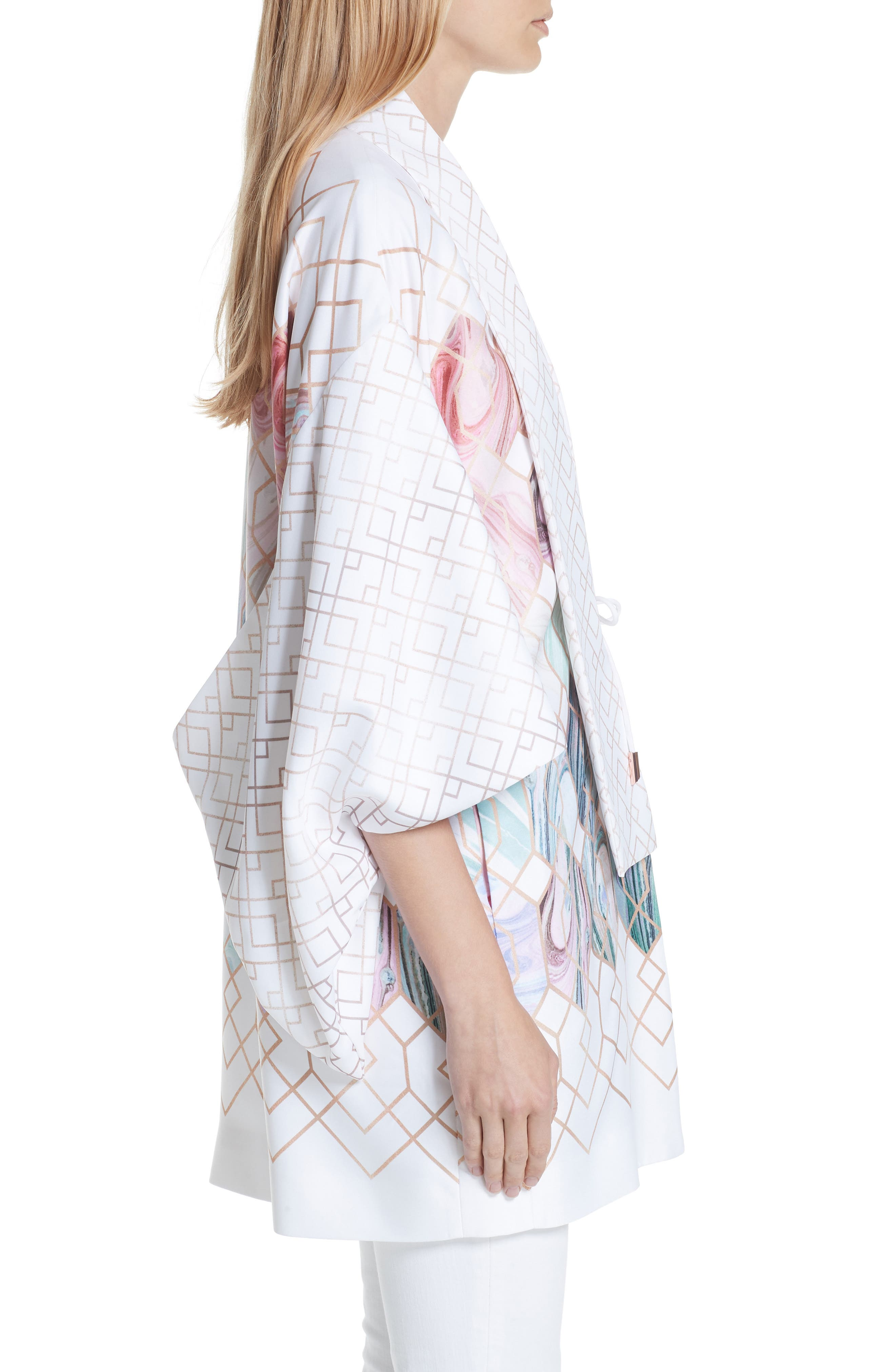 Koralle Sea of Clouds Kimono,                             Alternate thumbnail 3, color,