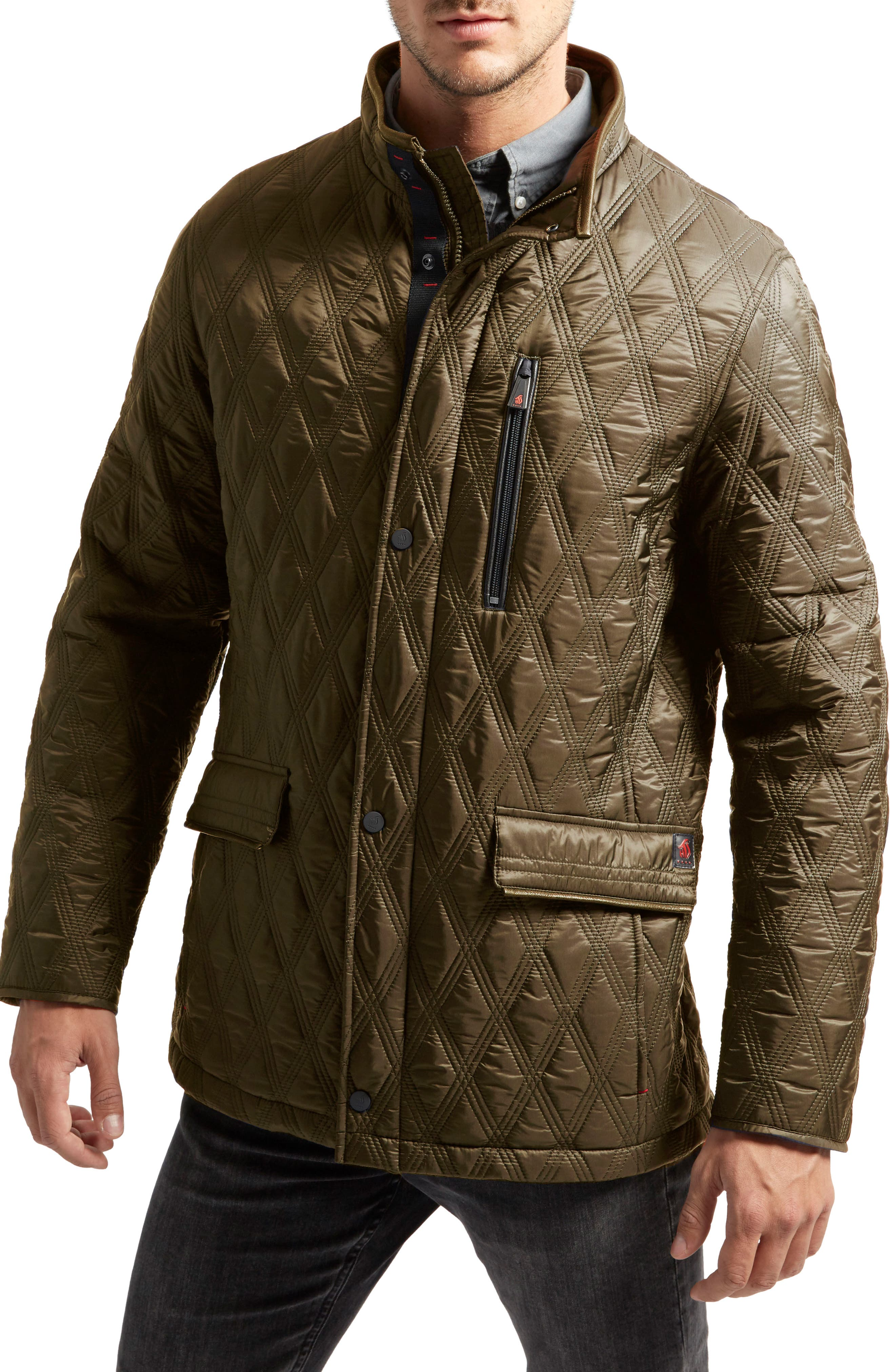 Prichard Triple Stitch Quilted Heat System Jacket,                             Main thumbnail 1, color,                             339