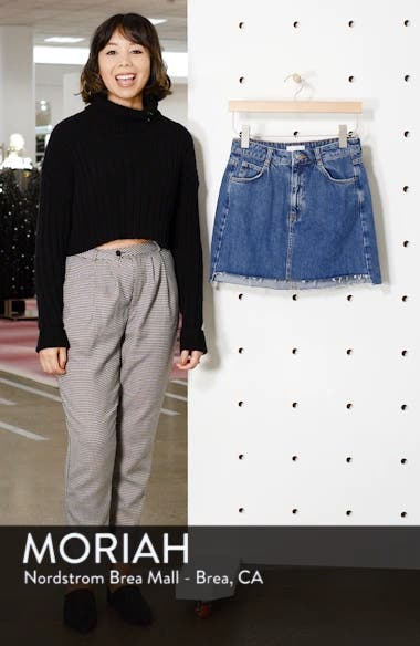 Step Hem Denim Skirt, sales video thumbnail