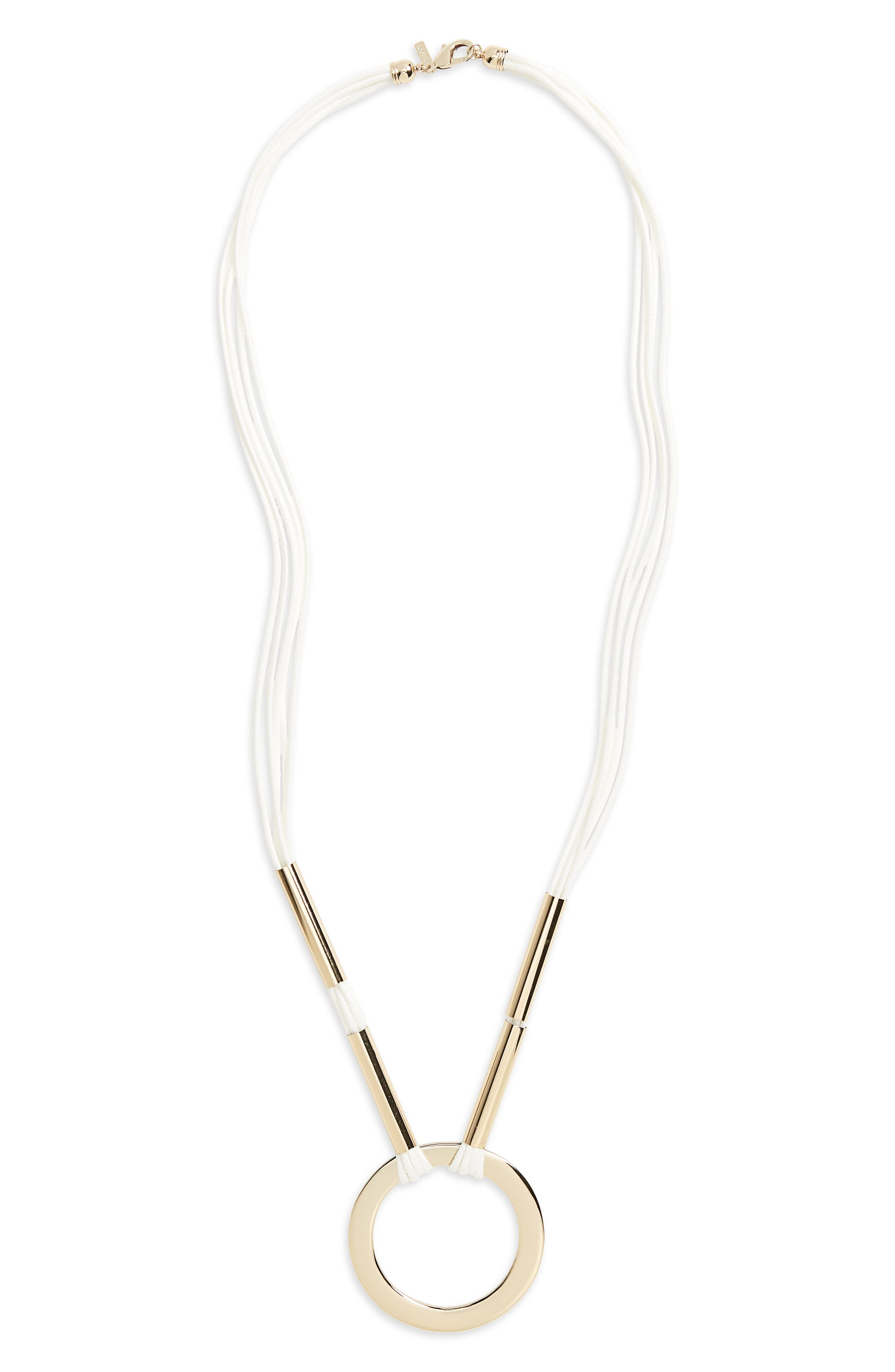 Small Loop Through Pendant Necklace,                         Main,                         color, 100