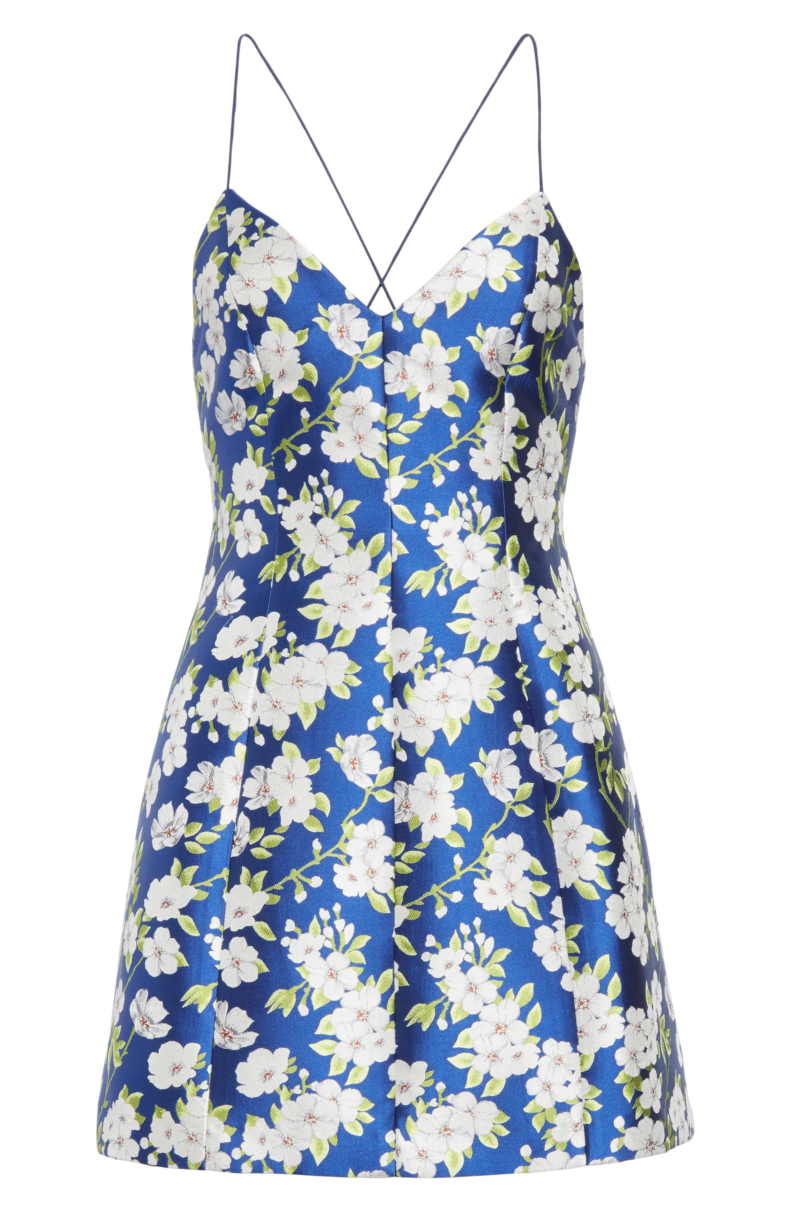 Tayla Structured Lantern Mini Dress,                             Alternate thumbnail 6, color,                             496