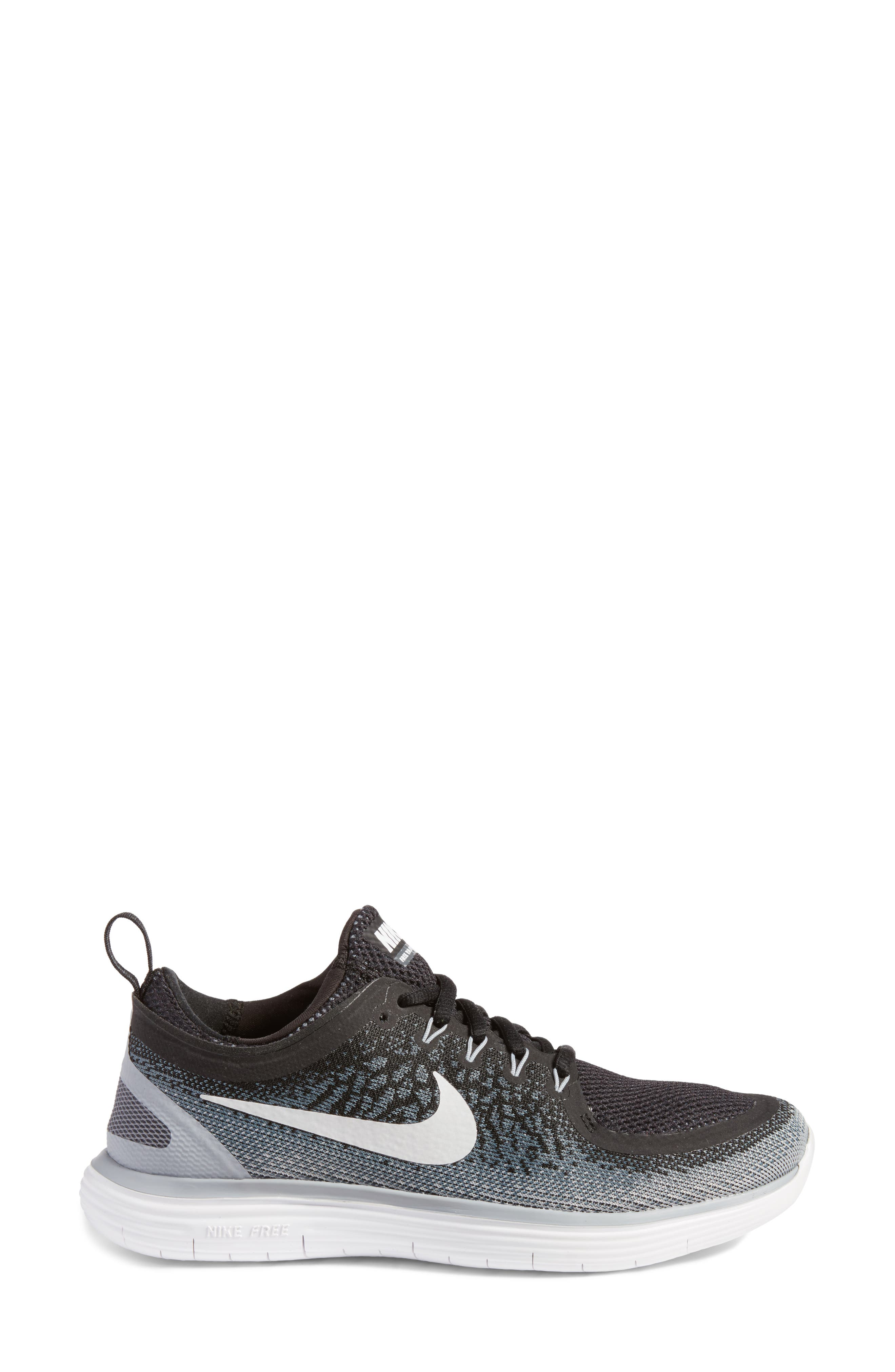 Free Run Distance 2 Running Shoe,                             Alternate thumbnail 3, color,                             001