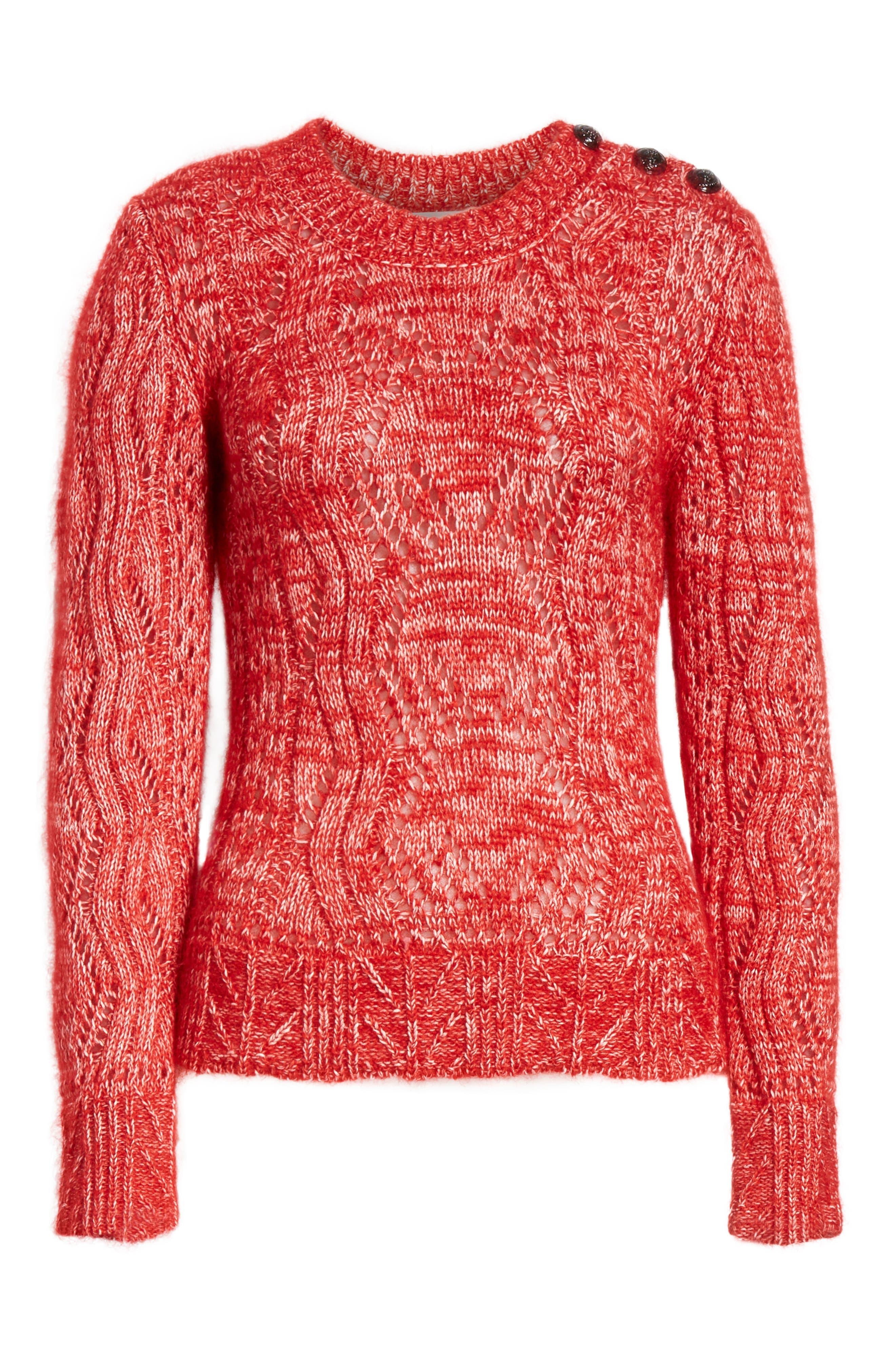 Numa Cotton & Silk Blend Sweater,                             Alternate thumbnail 6, color,                             600