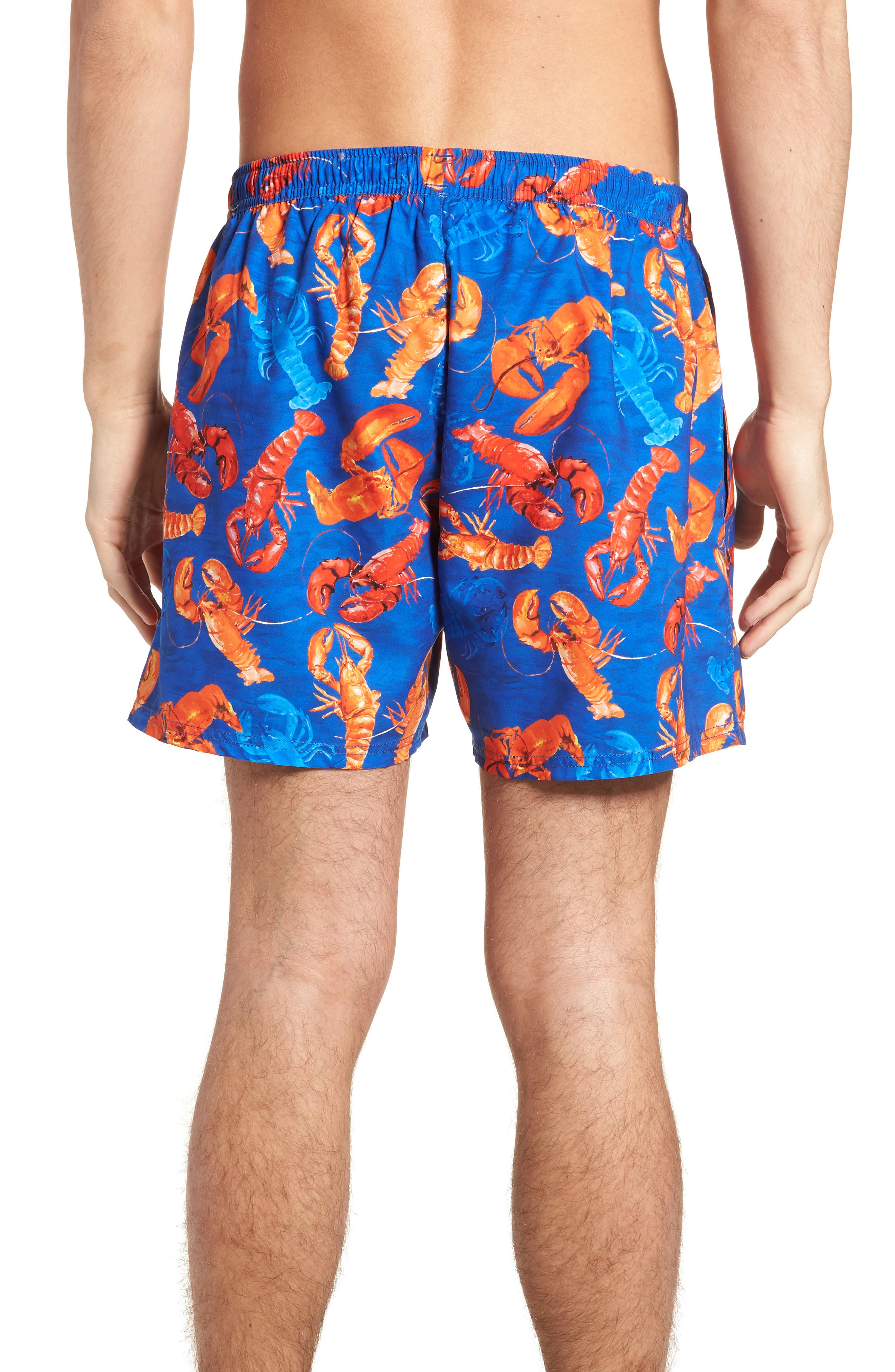 BOSS,                             Piranha Lobster Swim Trunks,                             Alternate thumbnail 2, color,                             460