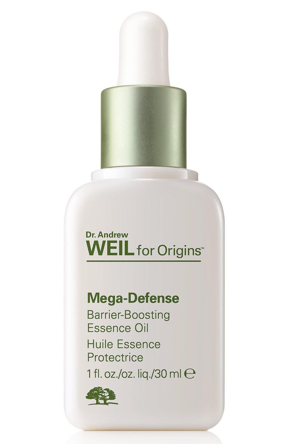 Dr. Andrew Weil for Origins<sup>™</sup> Mega-Defense Barrier-Boosting Essence Oil,                             Main thumbnail 1, color,                             NO COLOR