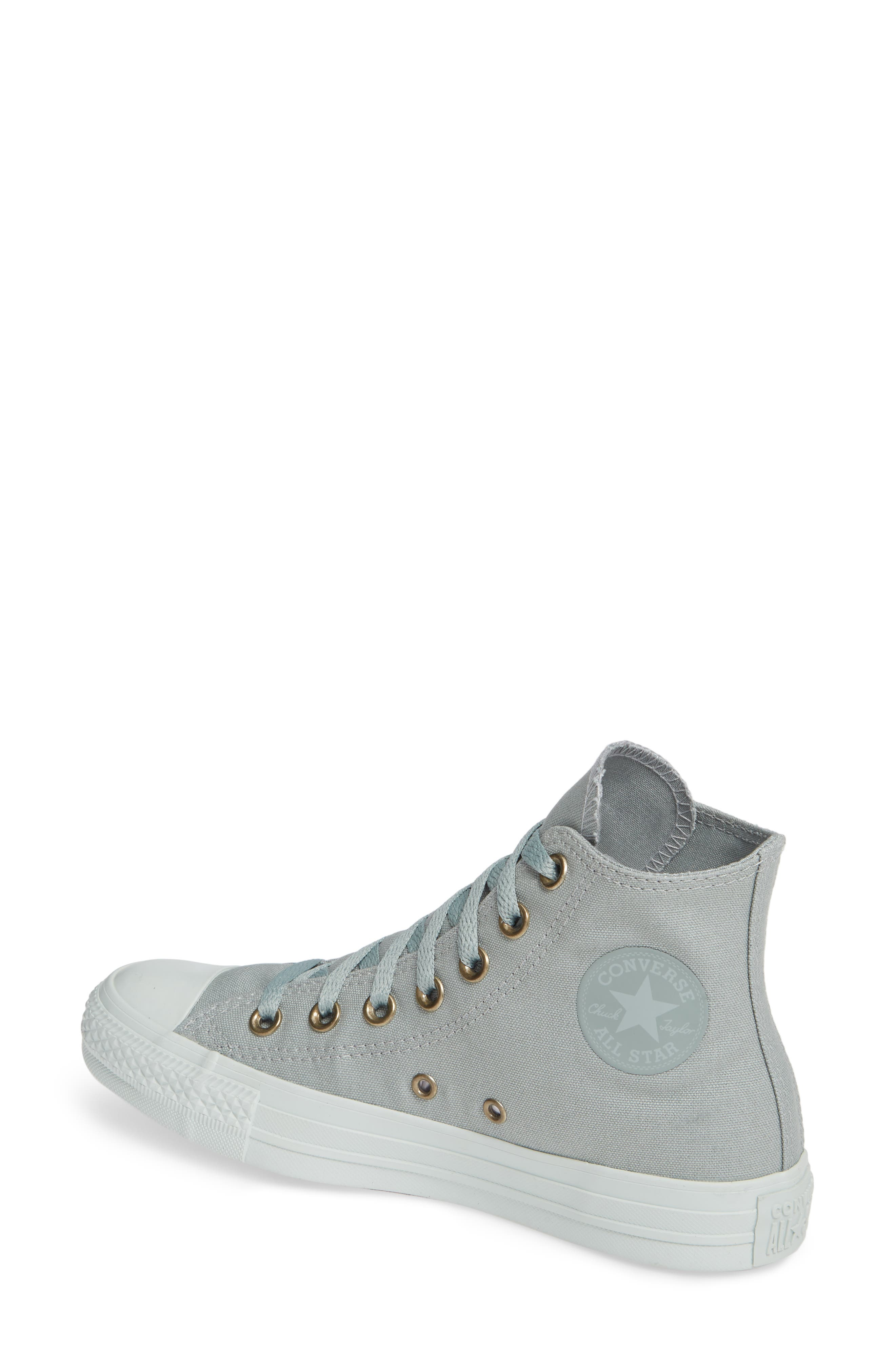 Chuck Taylor<sup>®</sup> All Star<sup>®</sup> Botanical High Top Sneaker,                             Alternate thumbnail 2, color,                             MICA GREEN