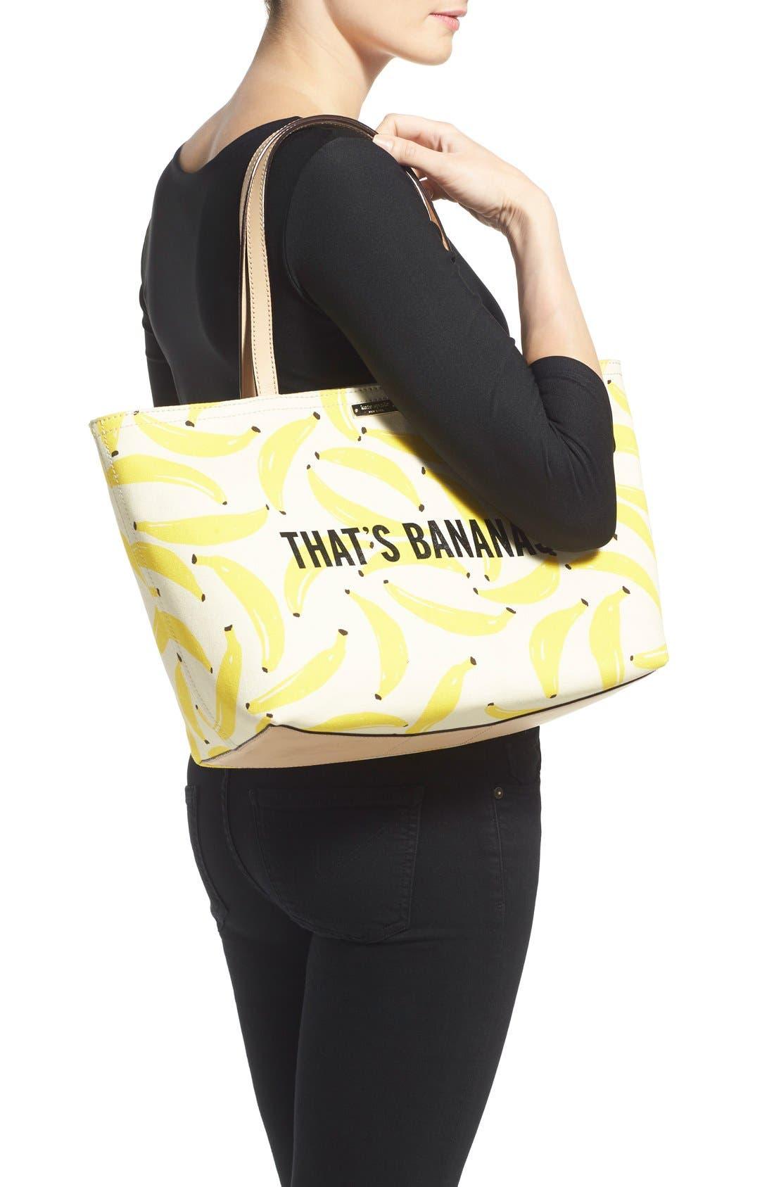 'that's bananas - francis' tote,                             Alternate thumbnail 3, color,                             700