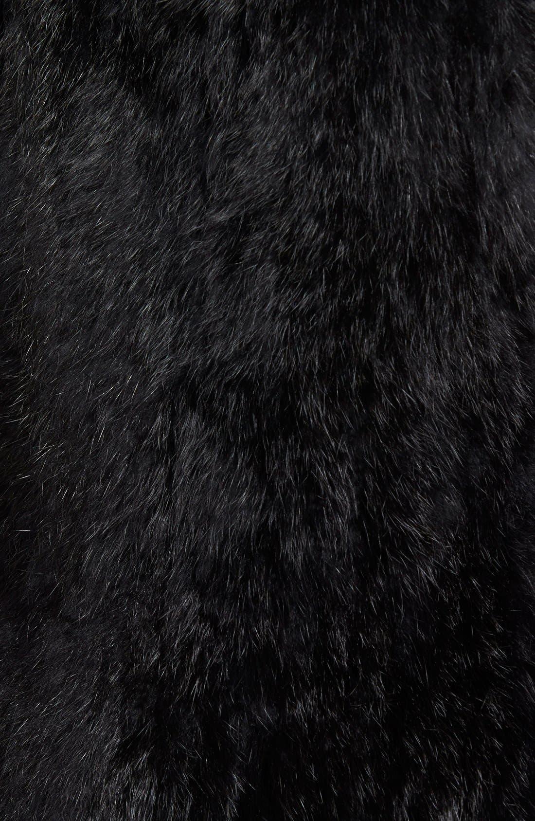 Genuine Rabbit Fur & Knit Vest,                             Alternate thumbnail 34, color,