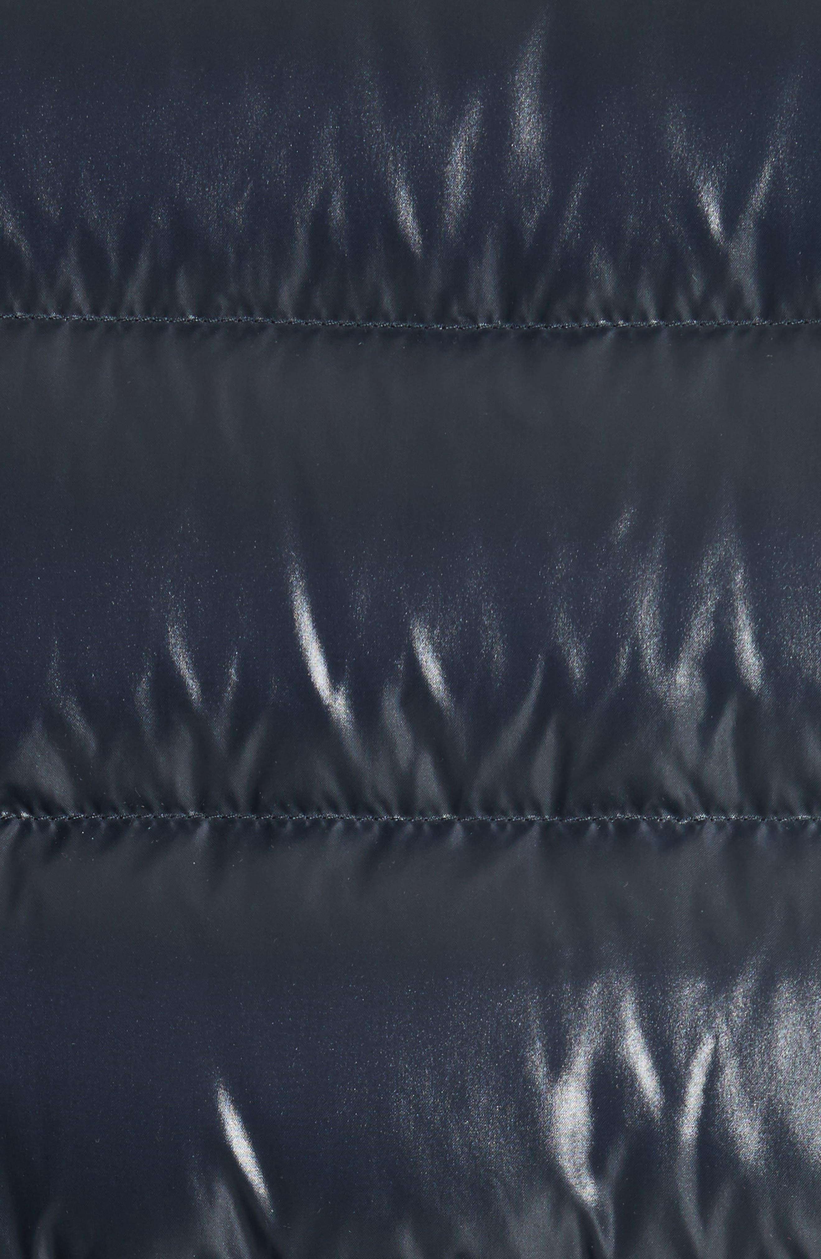 MONCLER,                             Aubert Giubbotto Two-Tone Down Jacket,                             Alternate thumbnail 6, color,                             NAVY/ WHITE